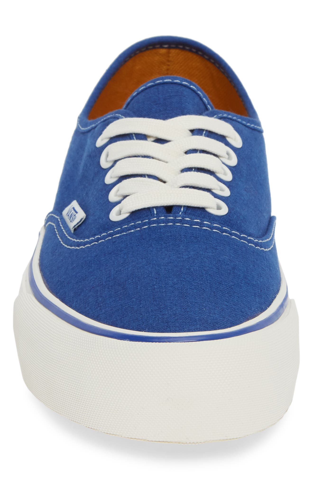 Authentic Sneaker,                             Alternate thumbnail 4, color,                             BLUE/ MARSHMALLOW