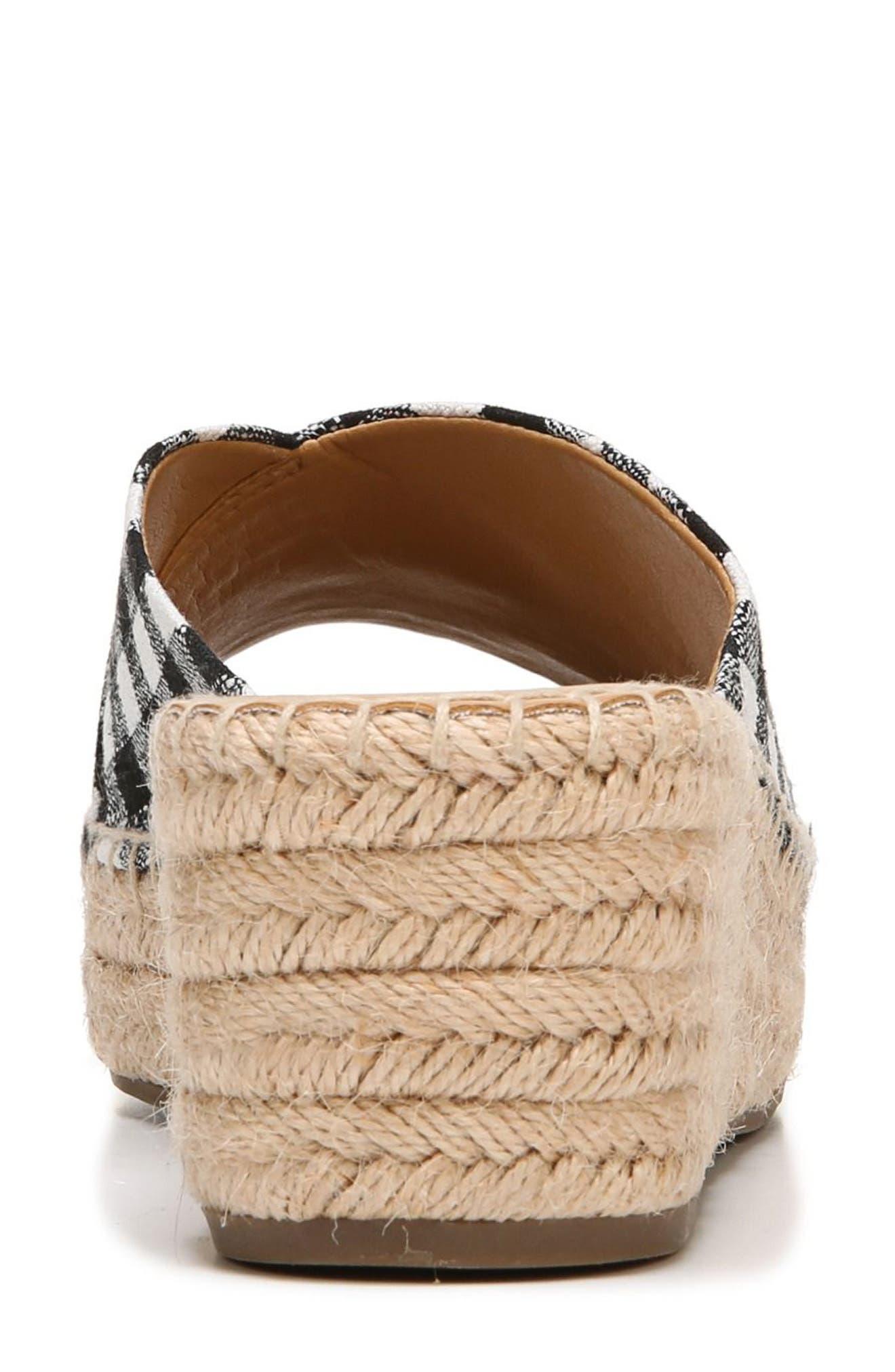 SARTO by Franco Sarto Pinot Platform Wedge Slide Sandal,                             Alternate thumbnail 8, color,                             BLACK/ WHITE