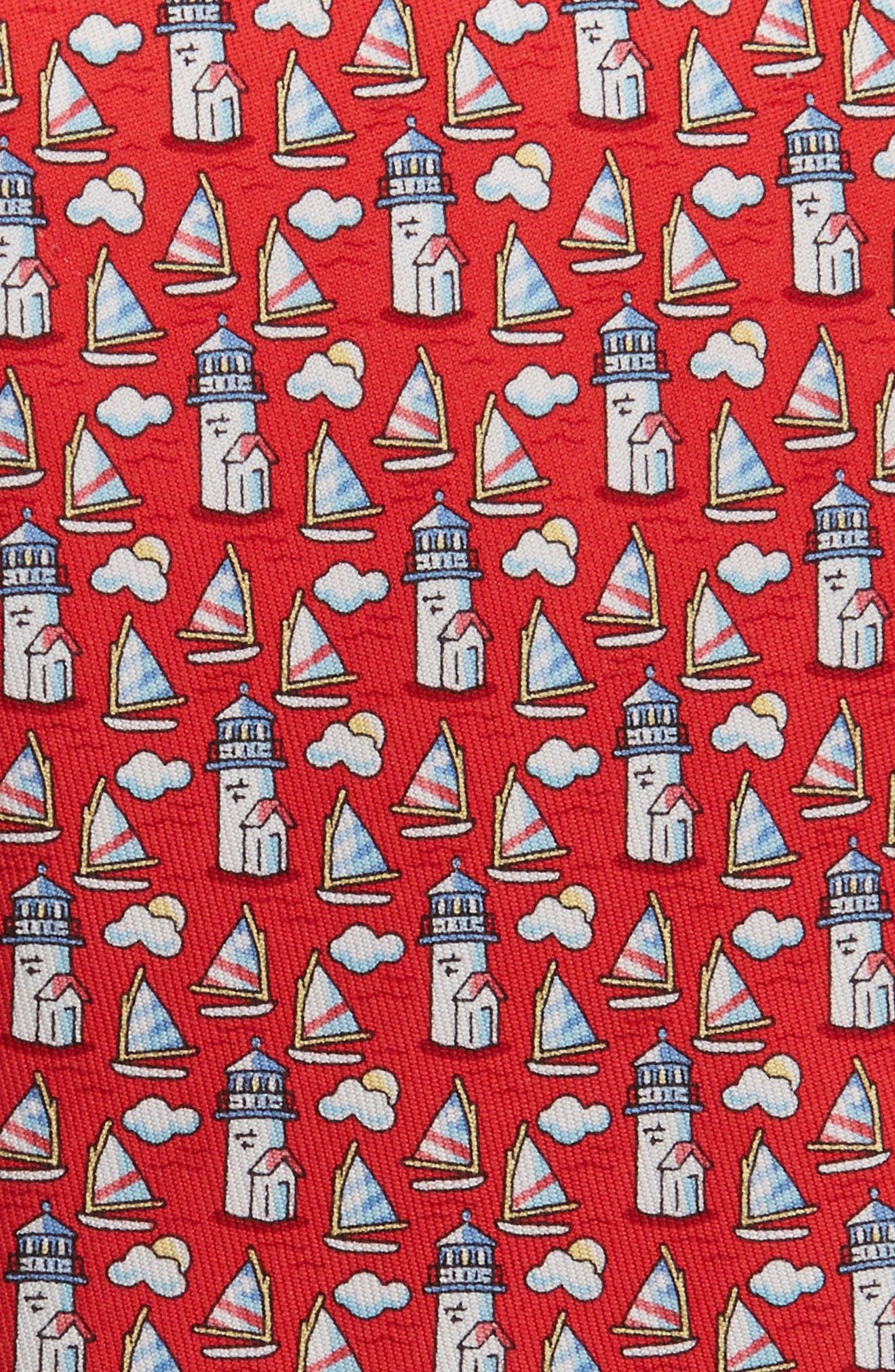 Nantucket Lighthouse Silk Tie,                             Alternate thumbnail 2, color,                             610