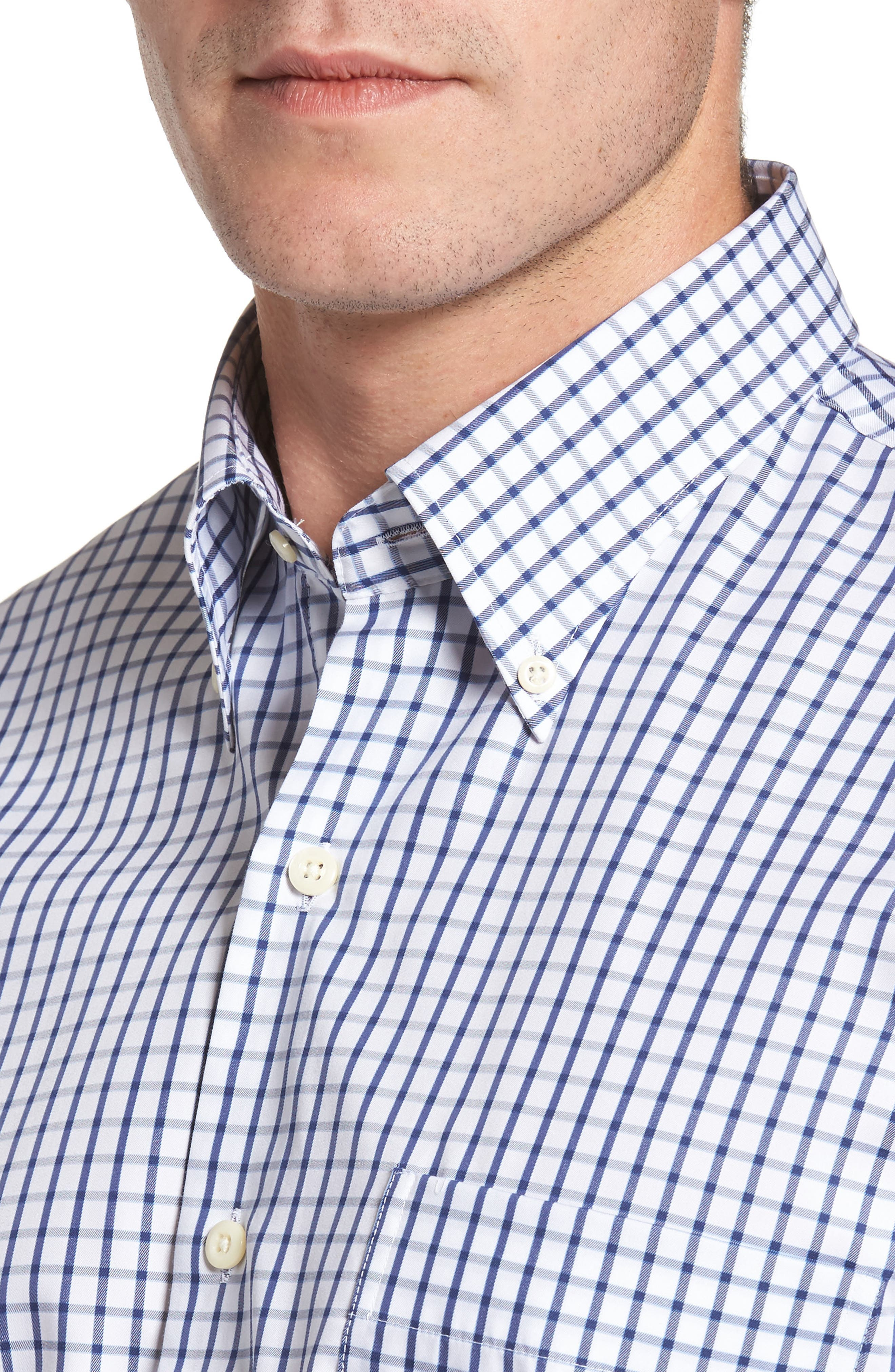 Crown Soft Nevada Tattersall Sport Shirt,                             Alternate thumbnail 4, color,                             400