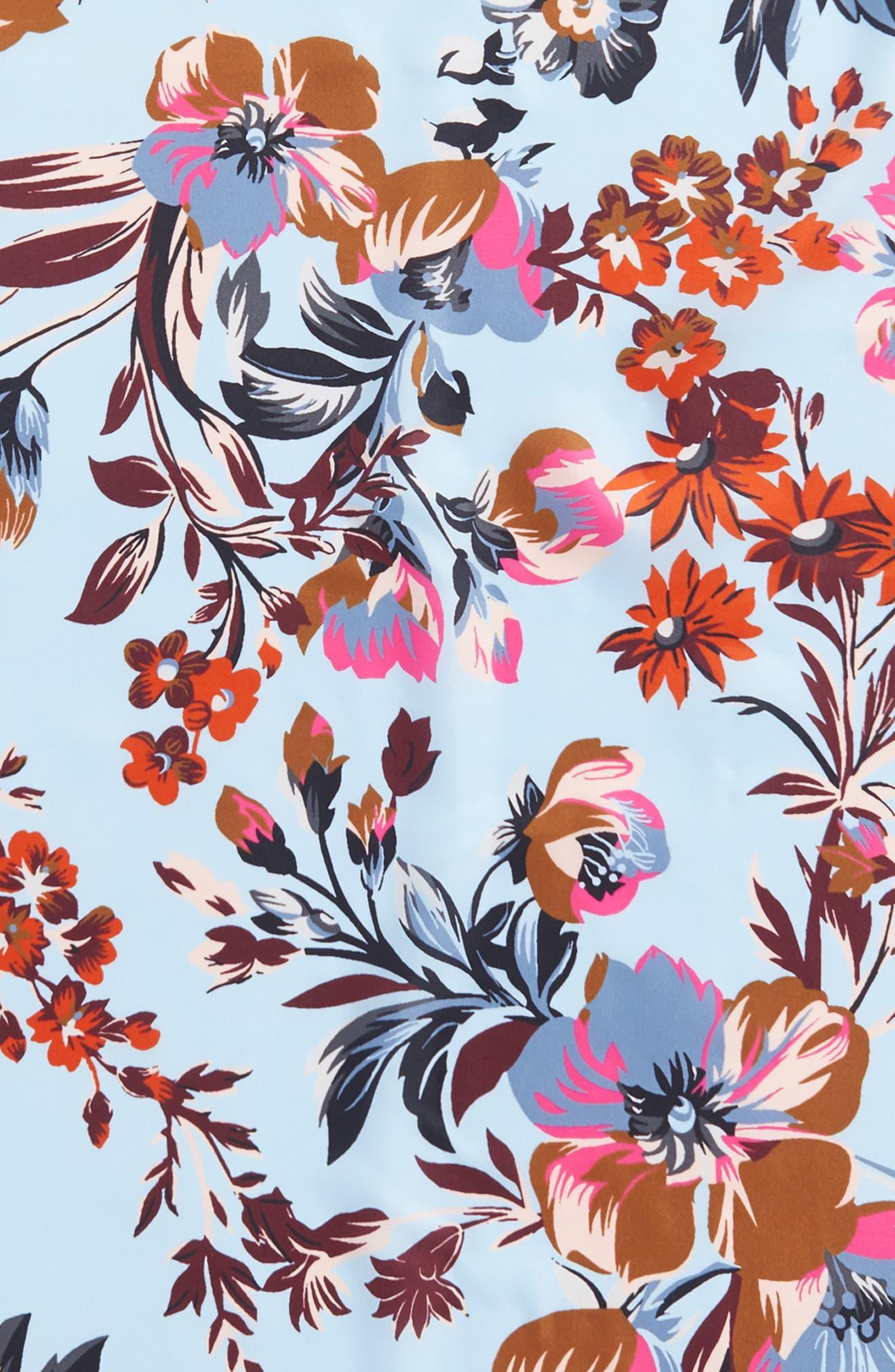 Highgate Floral Square Silk Scarf,                             Alternate thumbnail 8, color,