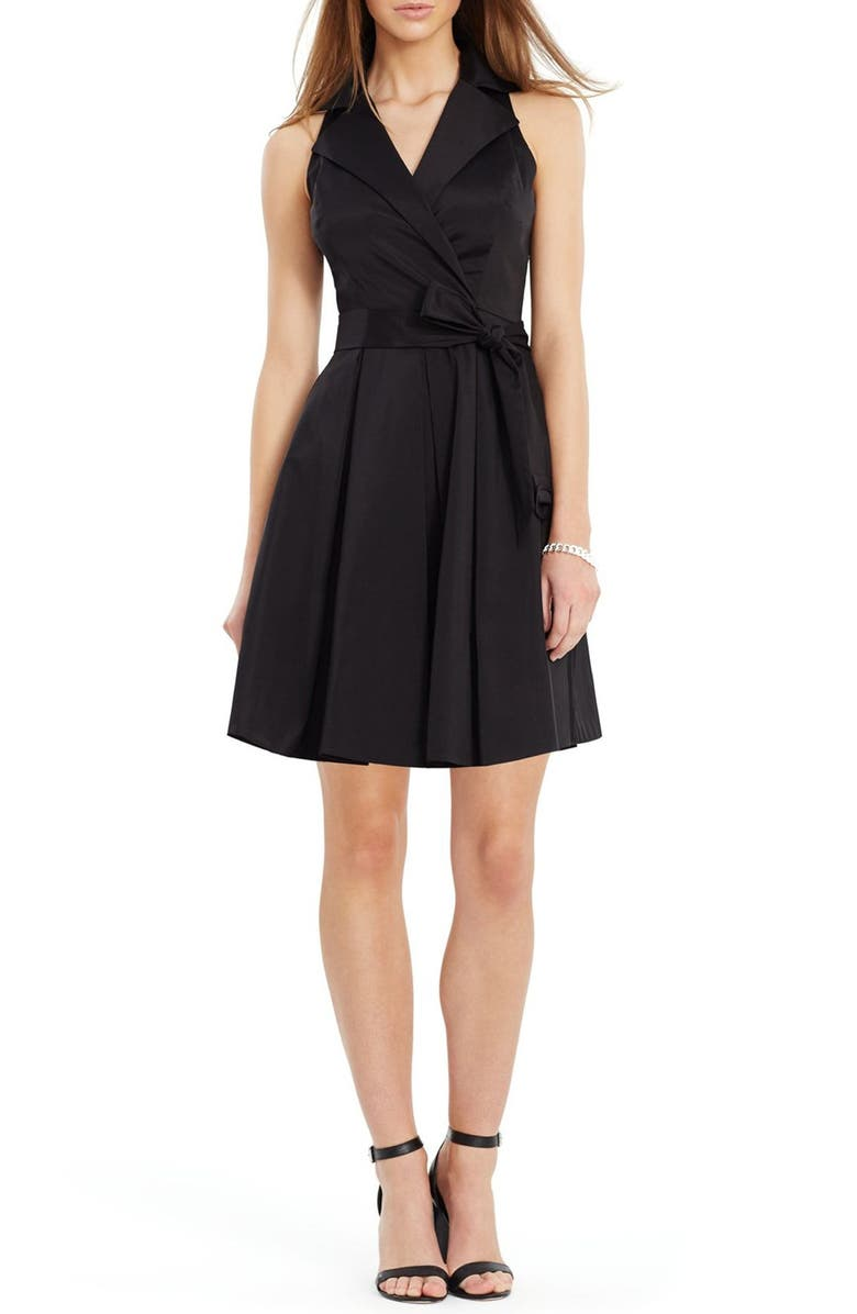 Taffeta Wrap Dress