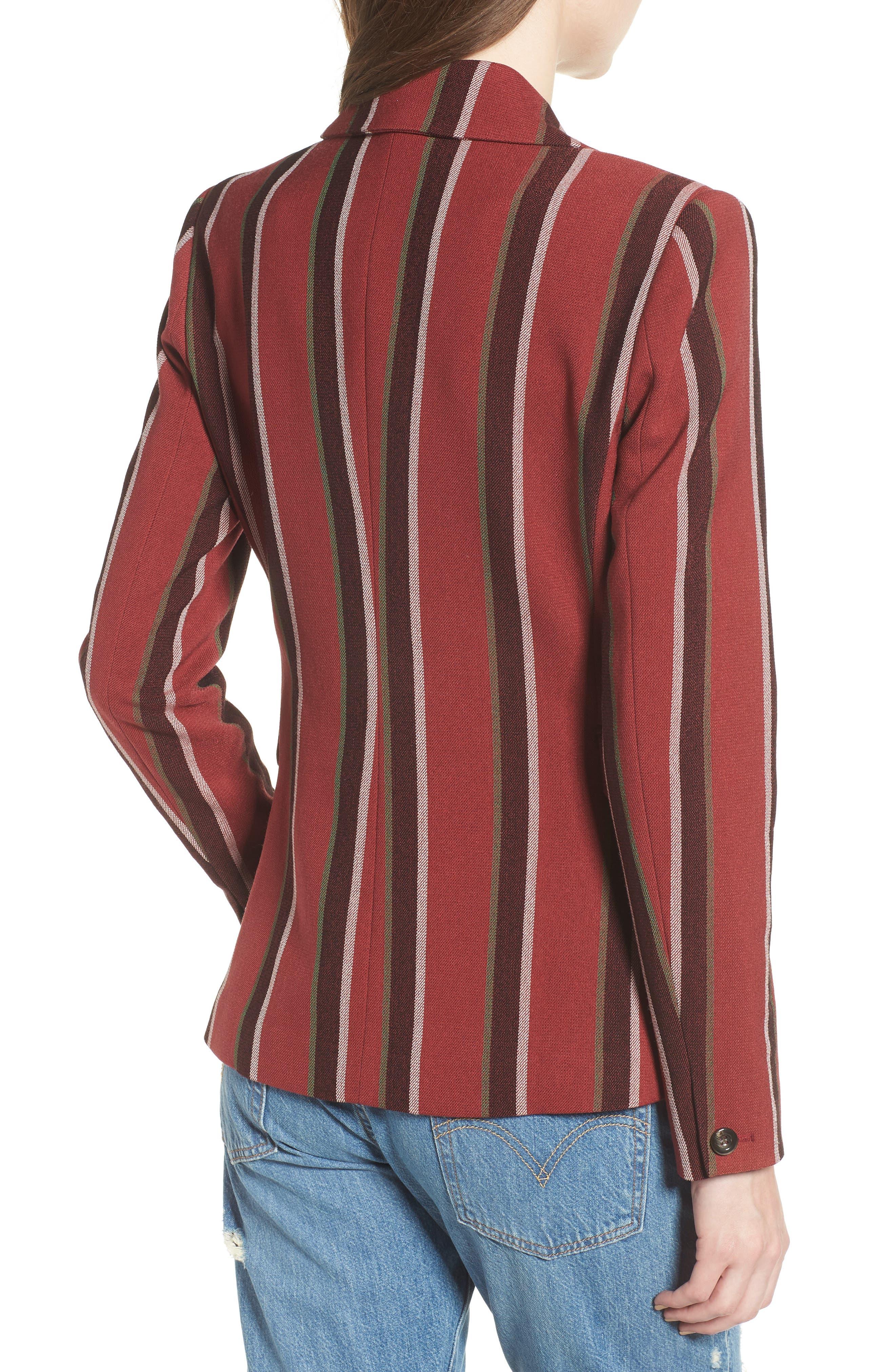 Stripe Blazer,                             Alternate thumbnail 2, color,                             600