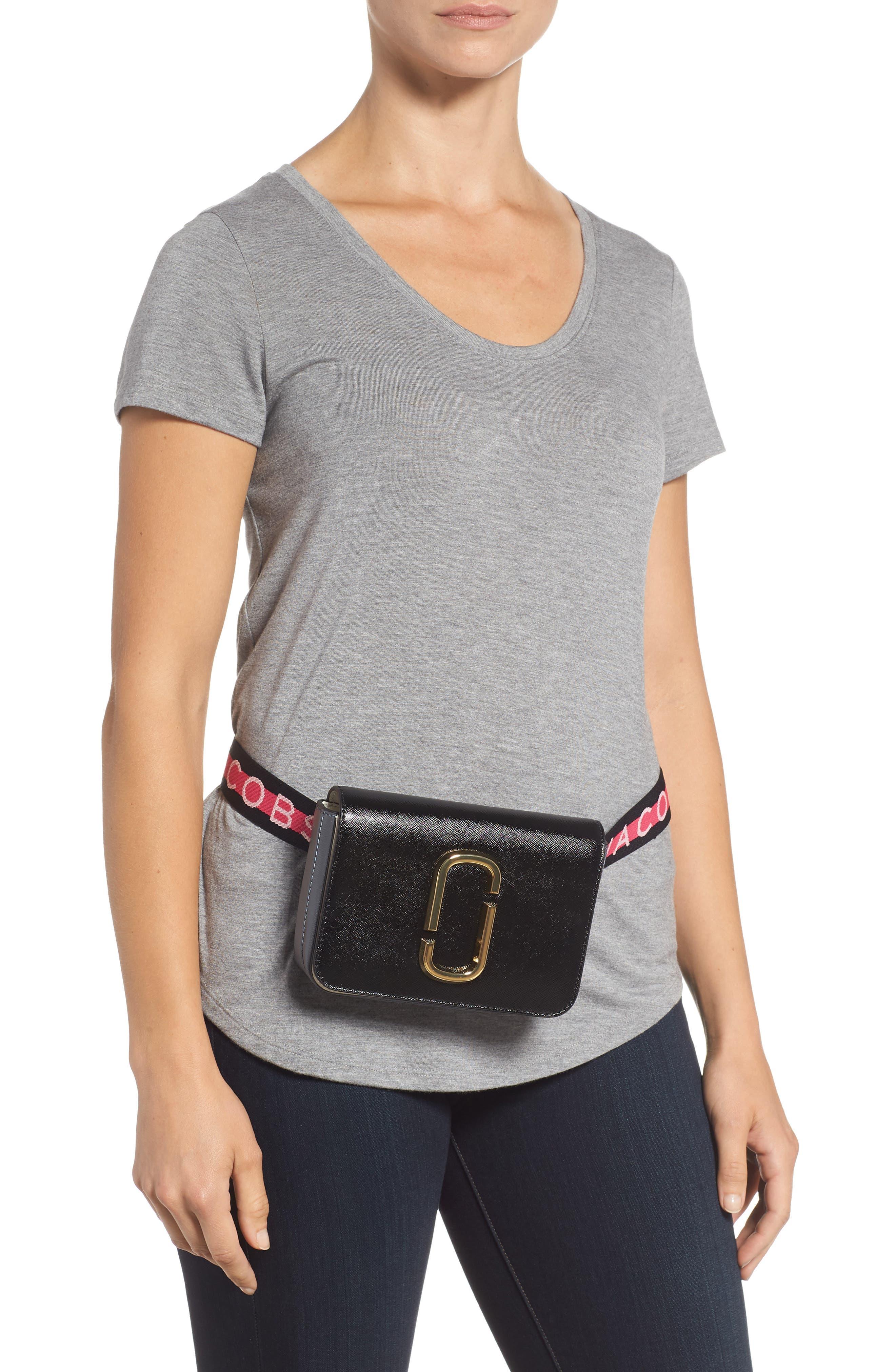Hip Shot Convertible Leather Belt Bag,                             Alternate thumbnail 2, color,                             BLACK MULTI