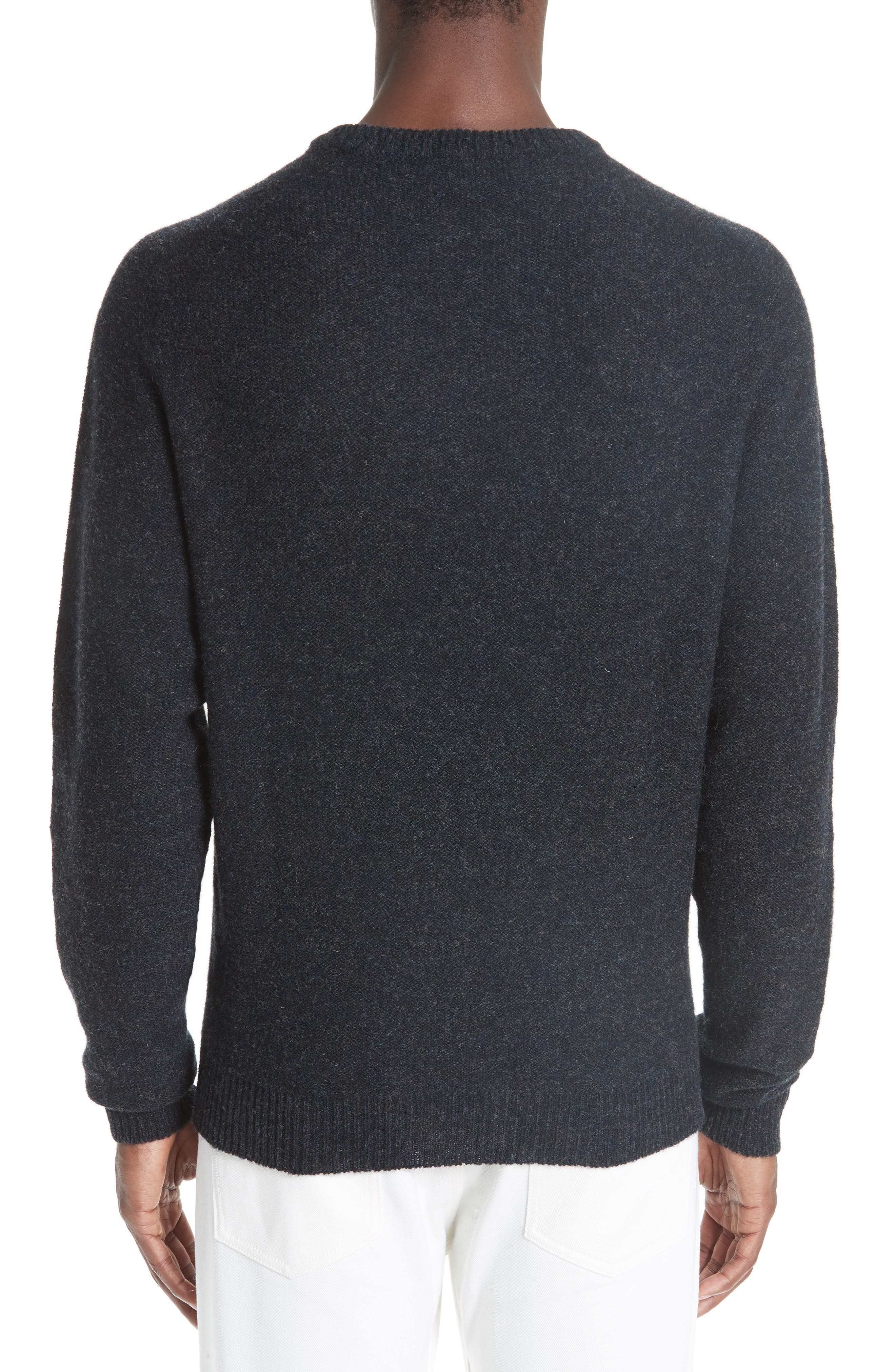 Crew Seamless Merino Sweater,                             Alternate thumbnail 2, color,                             ANTHRACITE