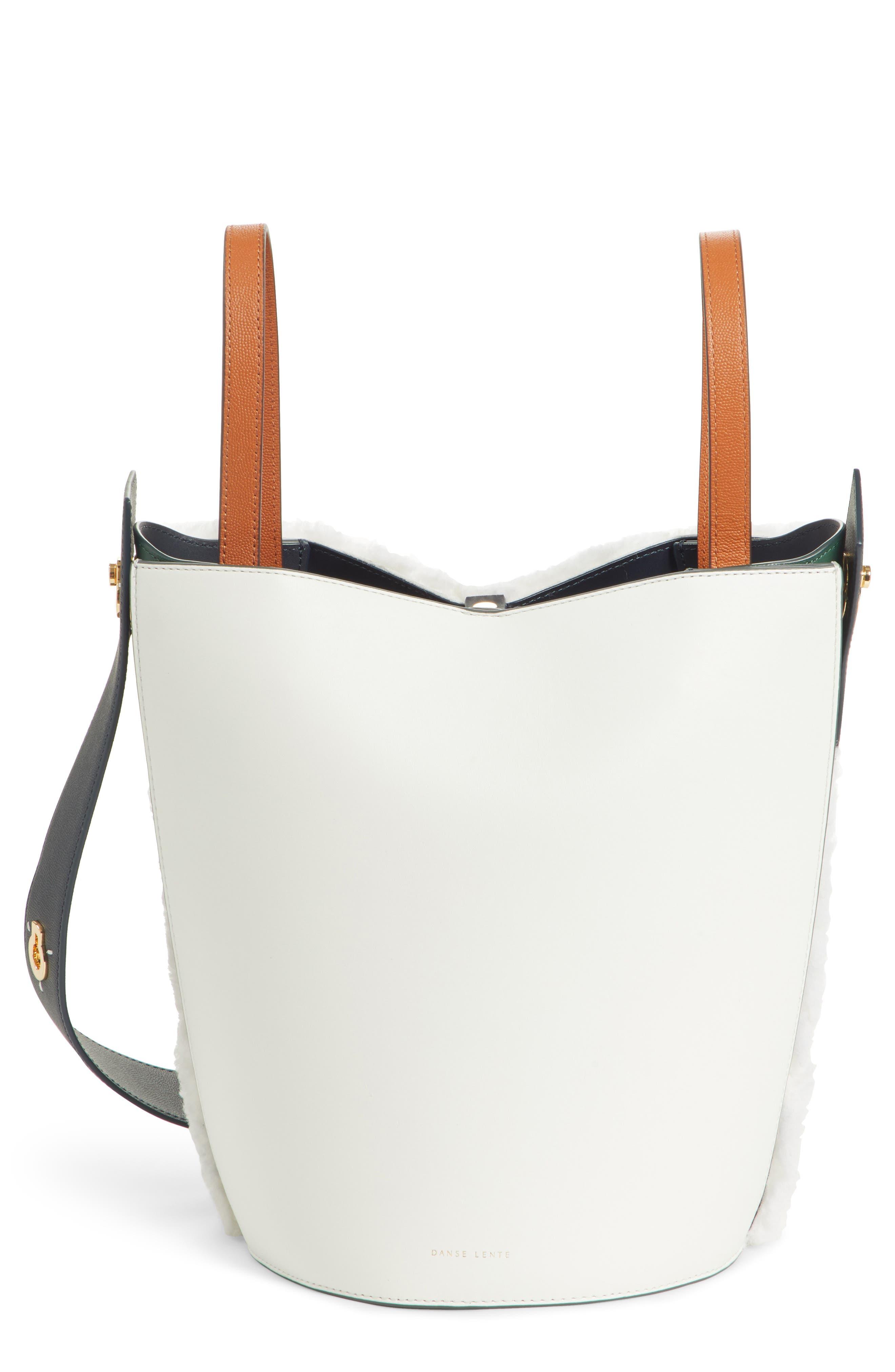 Mini Lorna Leather Bucket Bag,                             Main thumbnail 1, color,                             100