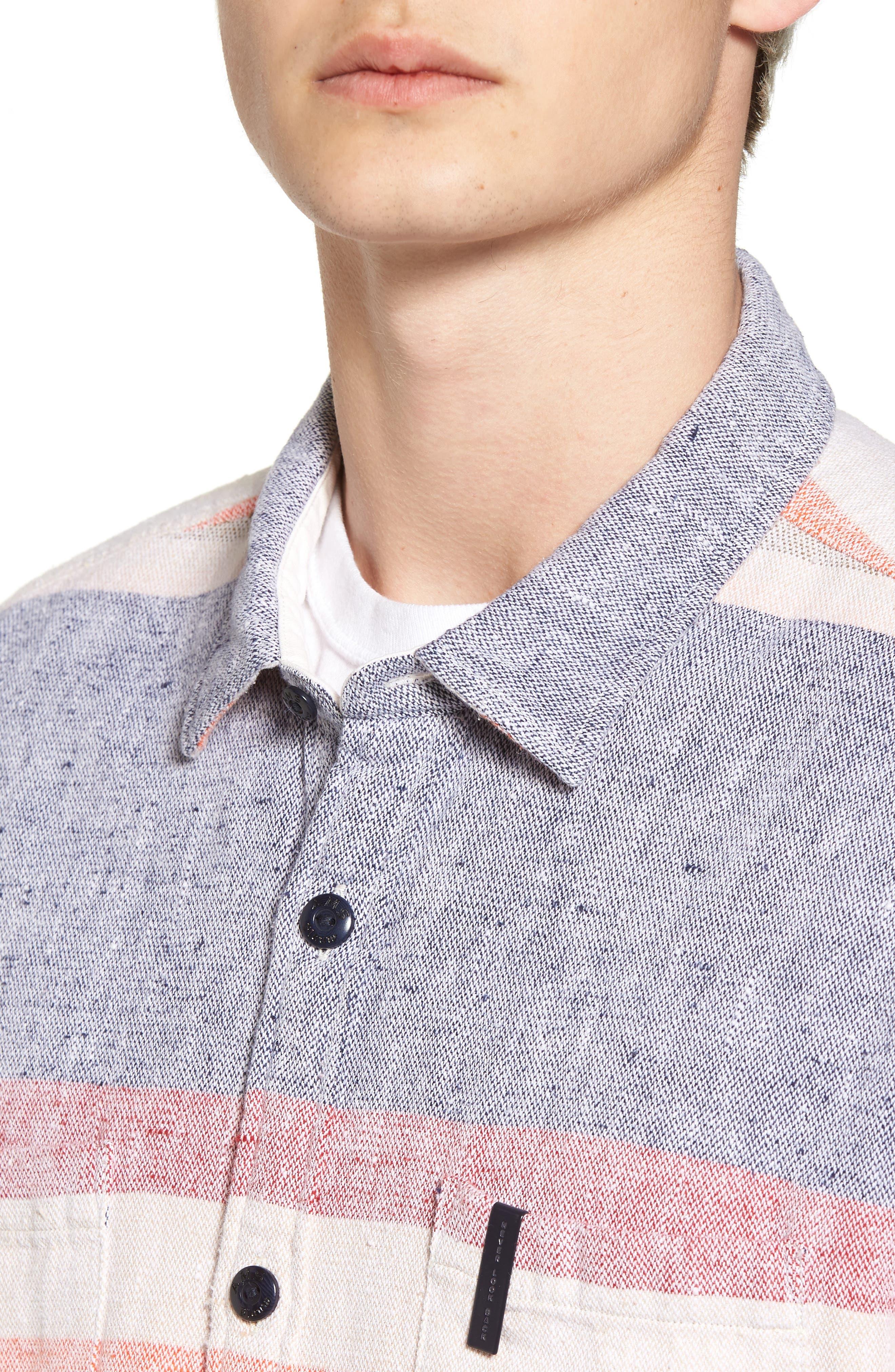 Amsterdams Summery Chunk Shirt,                             Alternate thumbnail 4, color,                             020
