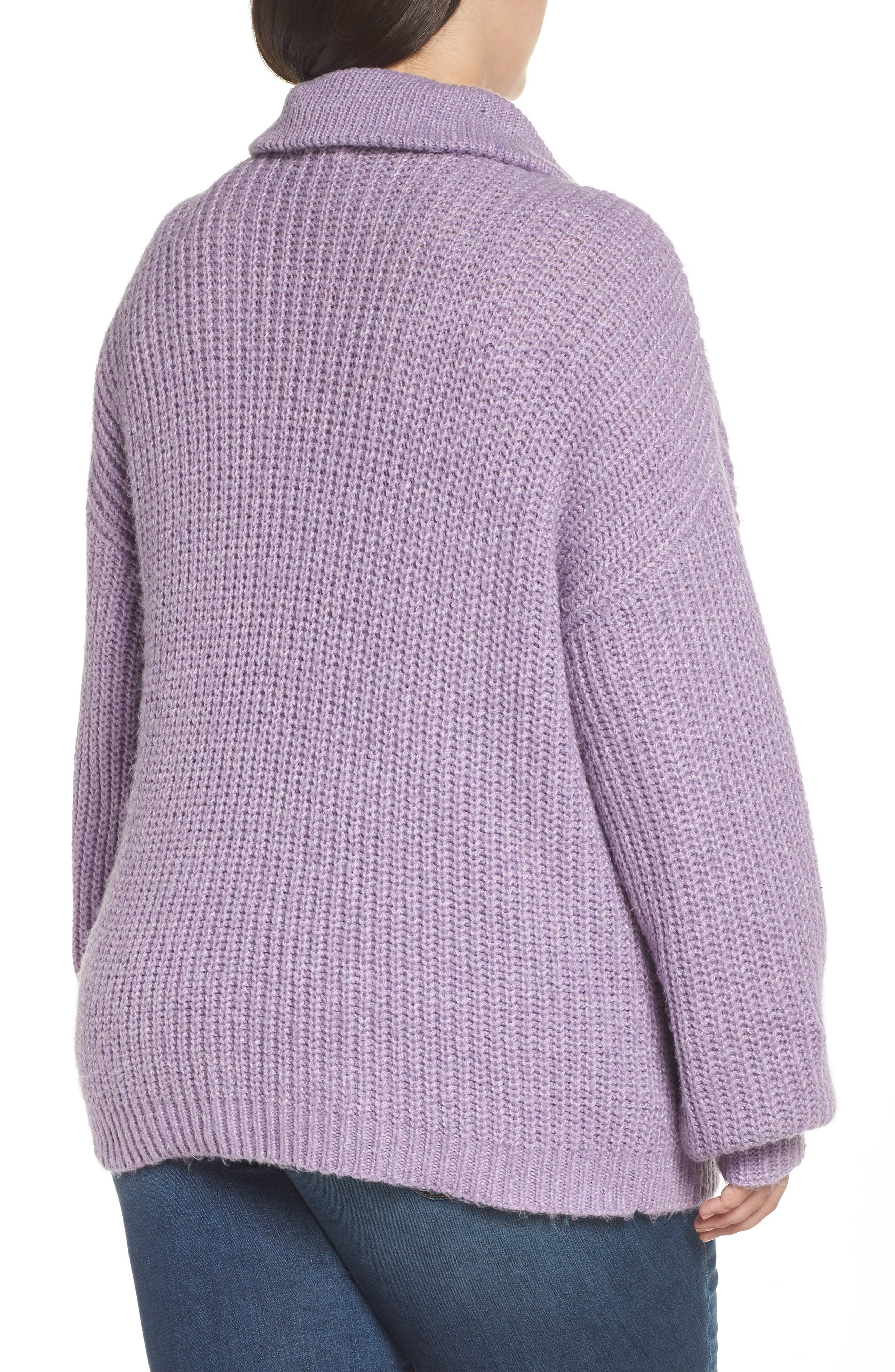 BP.,                             Quarter Zip Sweater,                             Alternate thumbnail 2, color,                             PURPLE WAVE