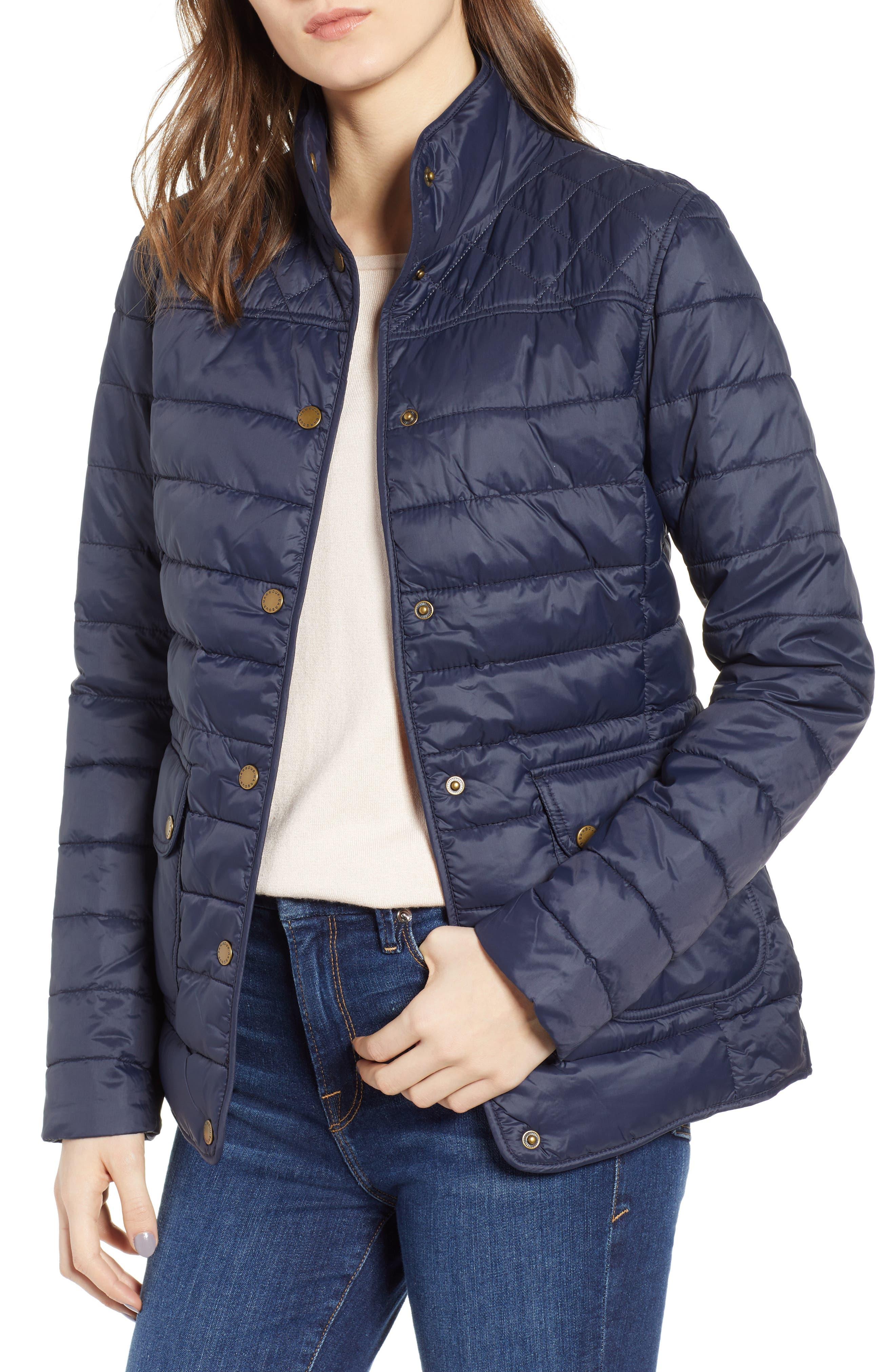 Barbour Coledale Quilted Jacket, US / 14 UK - Blue