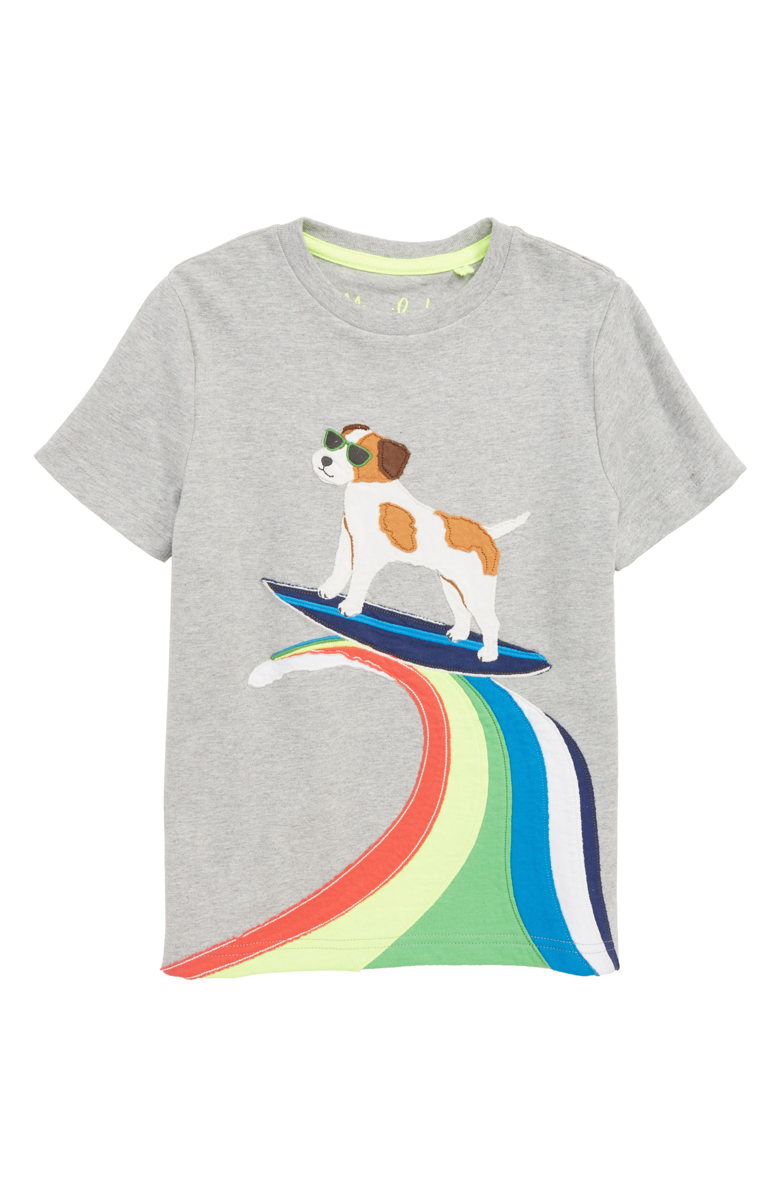 MINI BODEN Action Appliqué T-Shirt, Main, color, 034