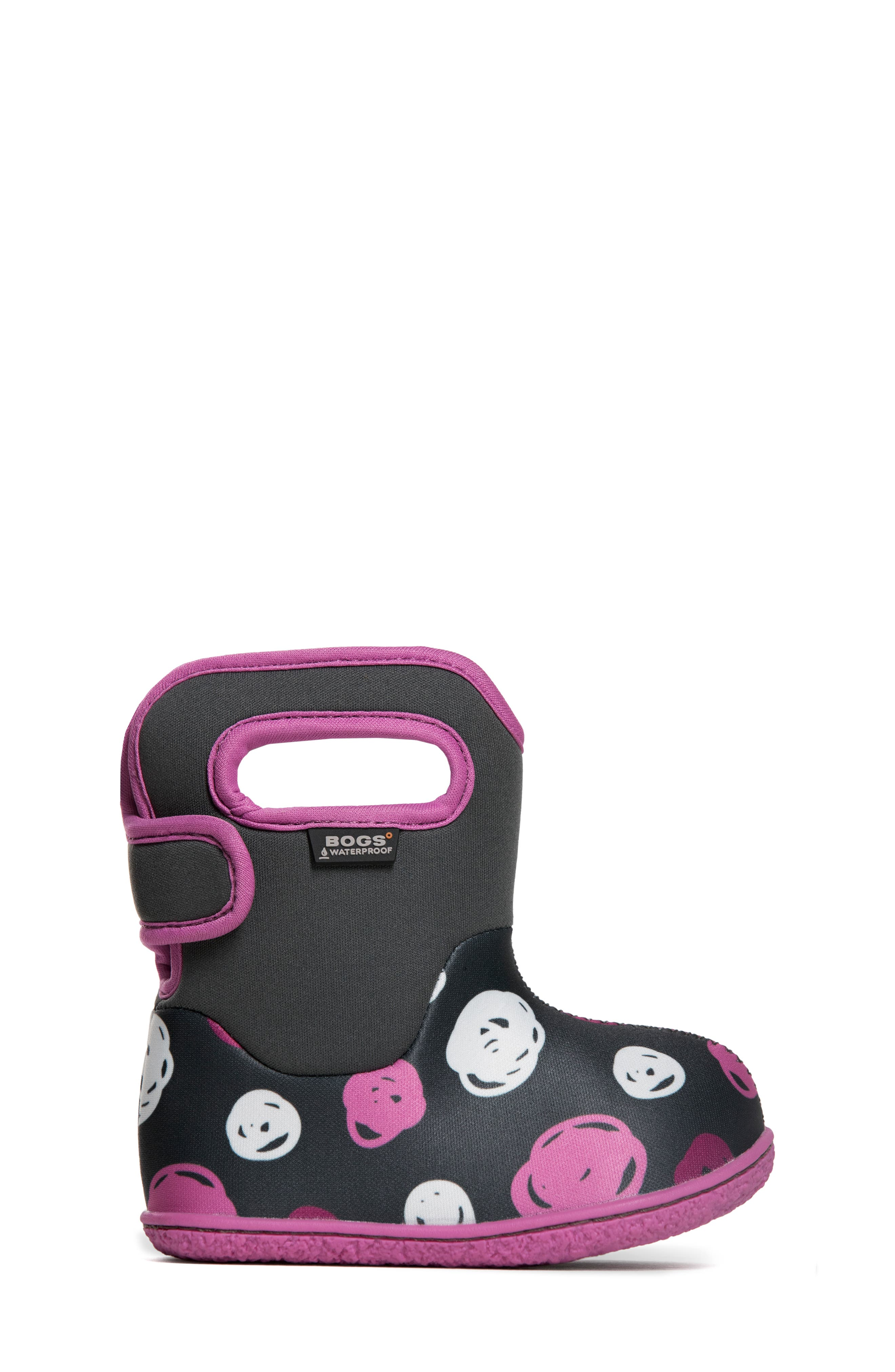 Baby Bogs Classic Sketched Dots Washable Insulated Waterproof Boot,                             Alternate thumbnail 3, color,                             DARK GRAY MULTI