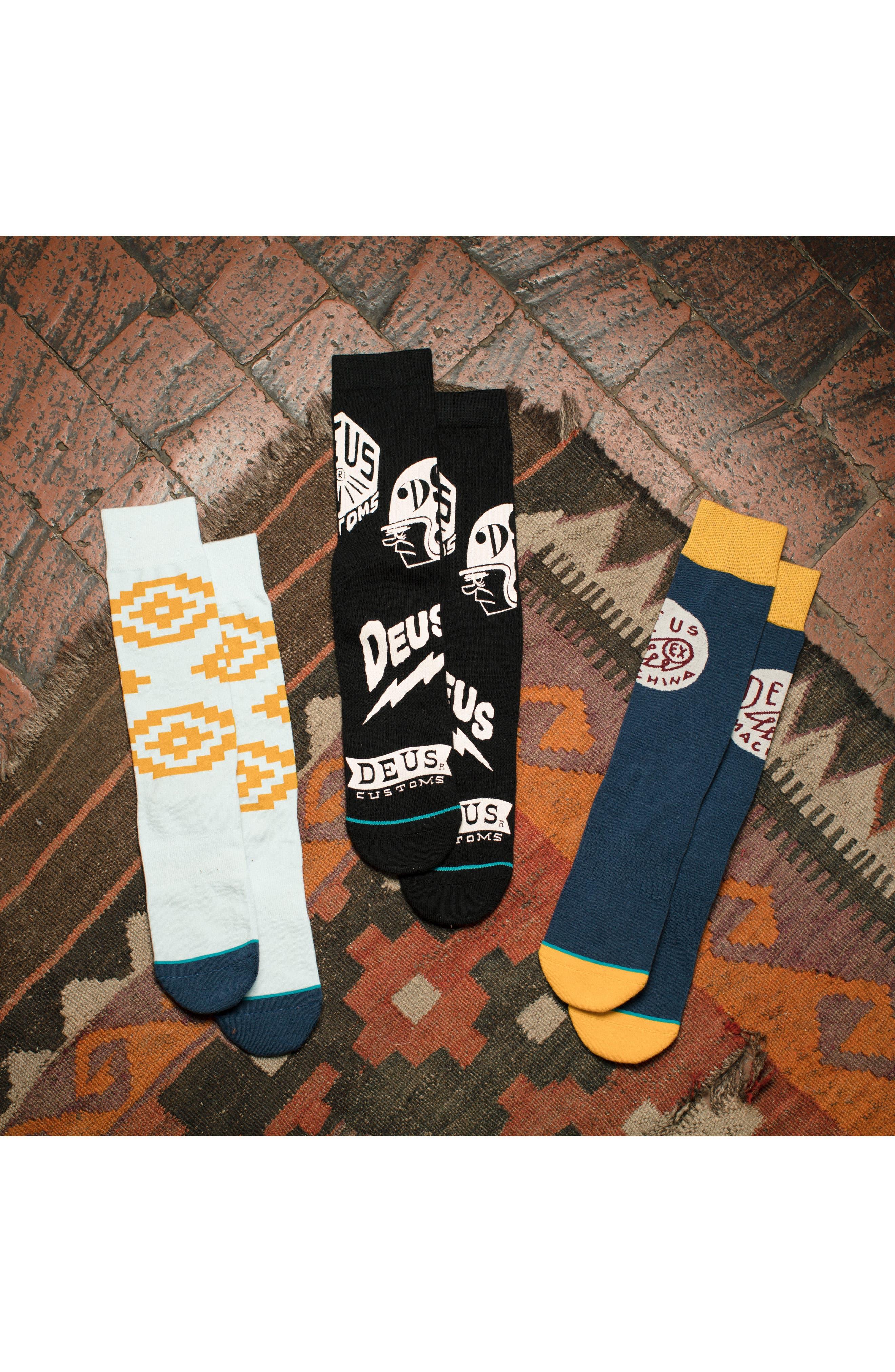 Paradise Socks,                             Alternate thumbnail 4, color,                             BLACK