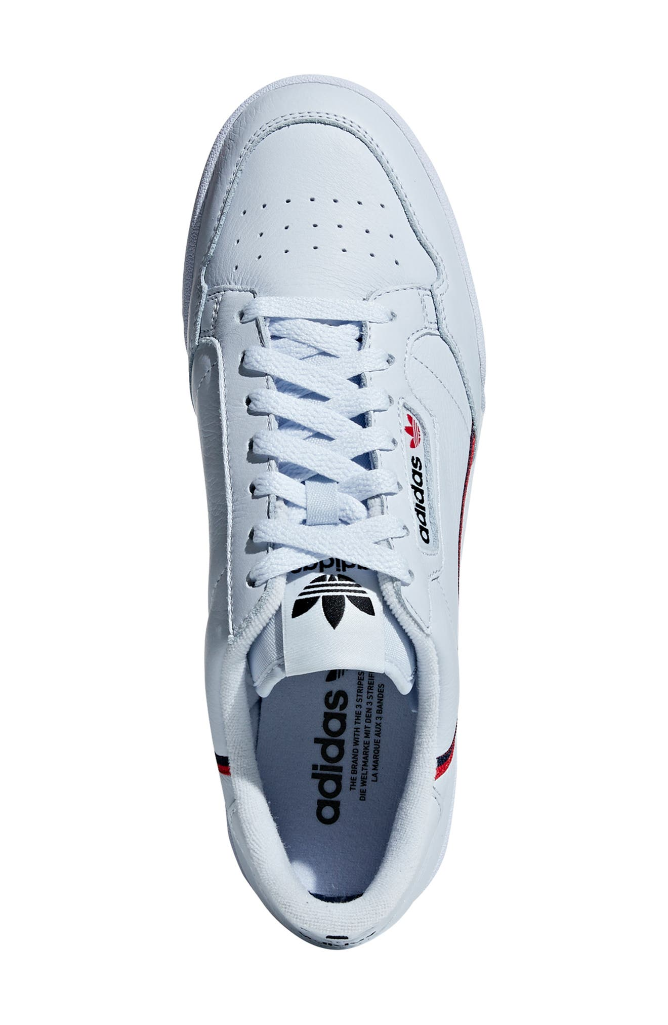 Continental 80 Sneaker,                             Alternate thumbnail 4, color,                             AERO BLUE/ SCARLET/ NAVY