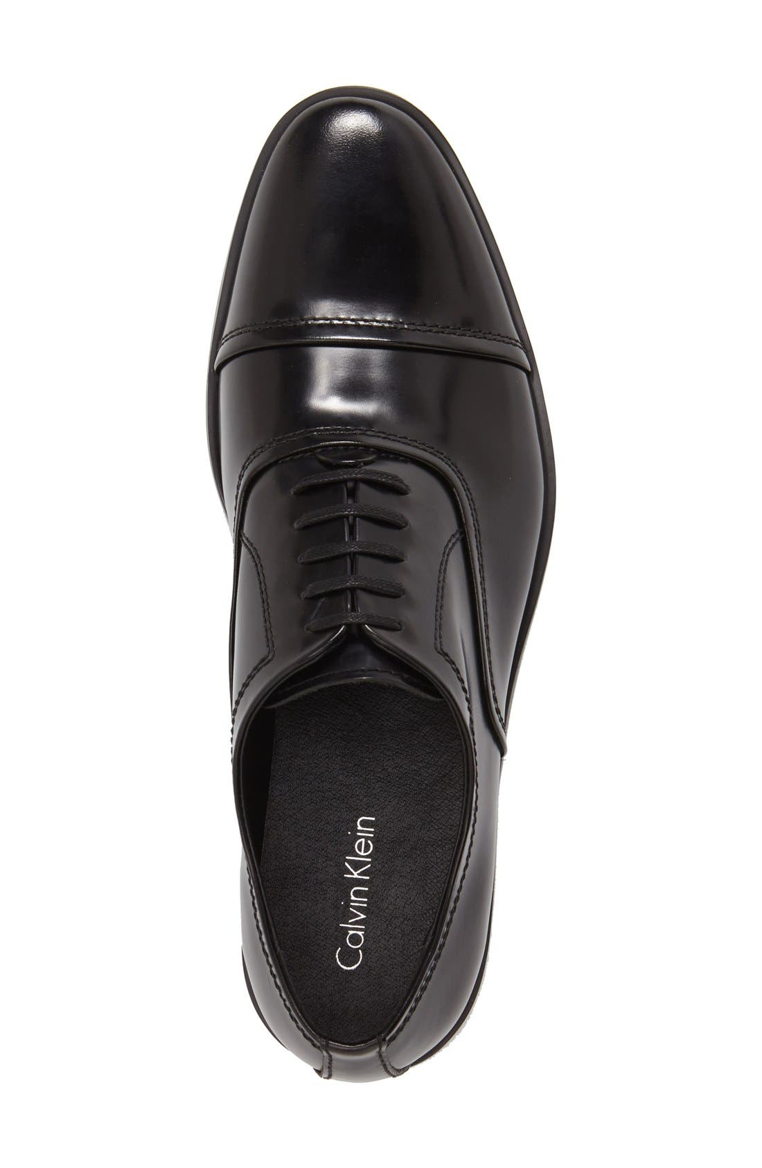 'Nino' Cap Toe Oxford,                             Alternate thumbnail 3, color,                             001