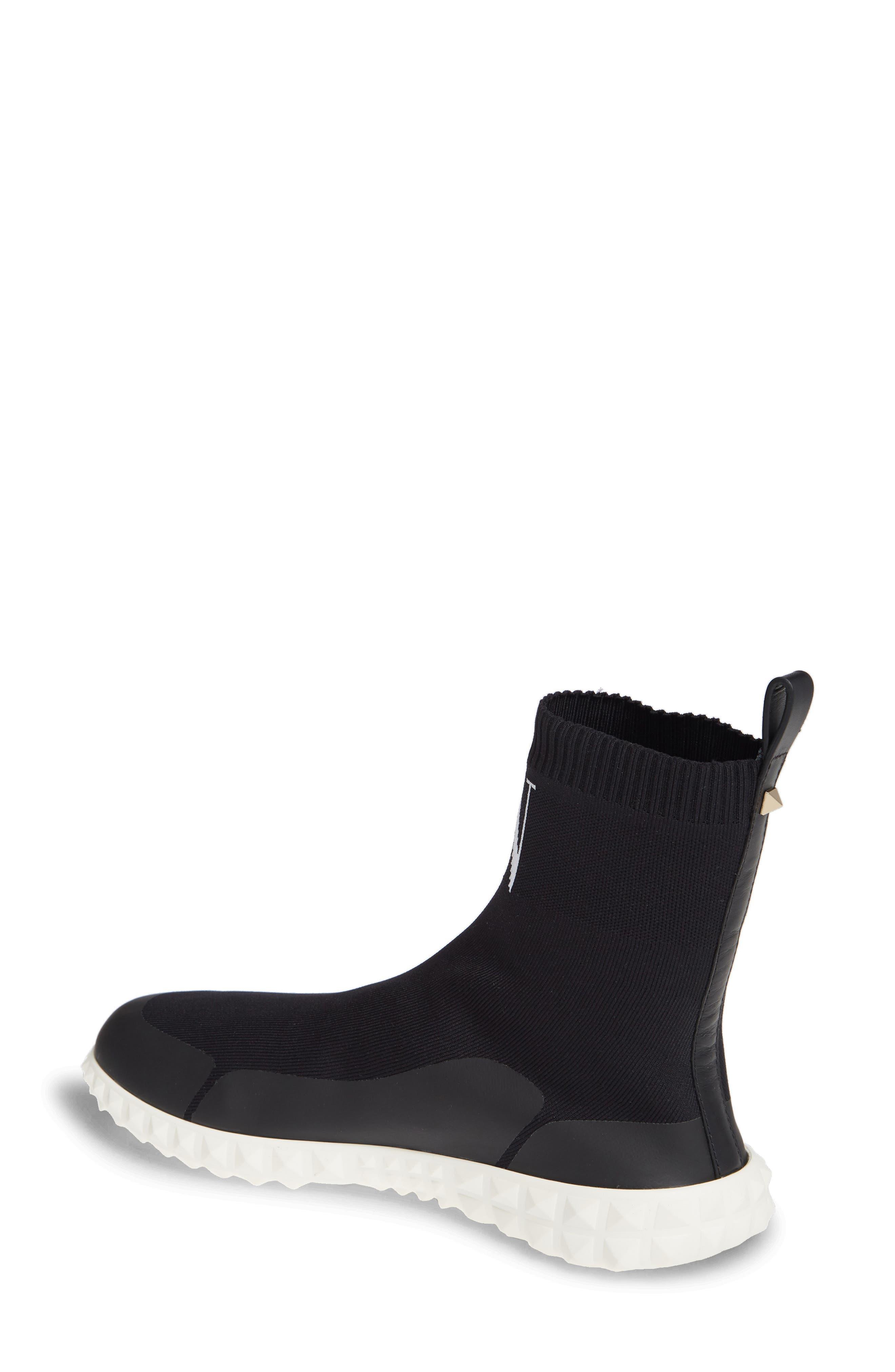 VLTN Slip-On Sock Sneaker,                             Alternate thumbnail 2, color,                             BLACK