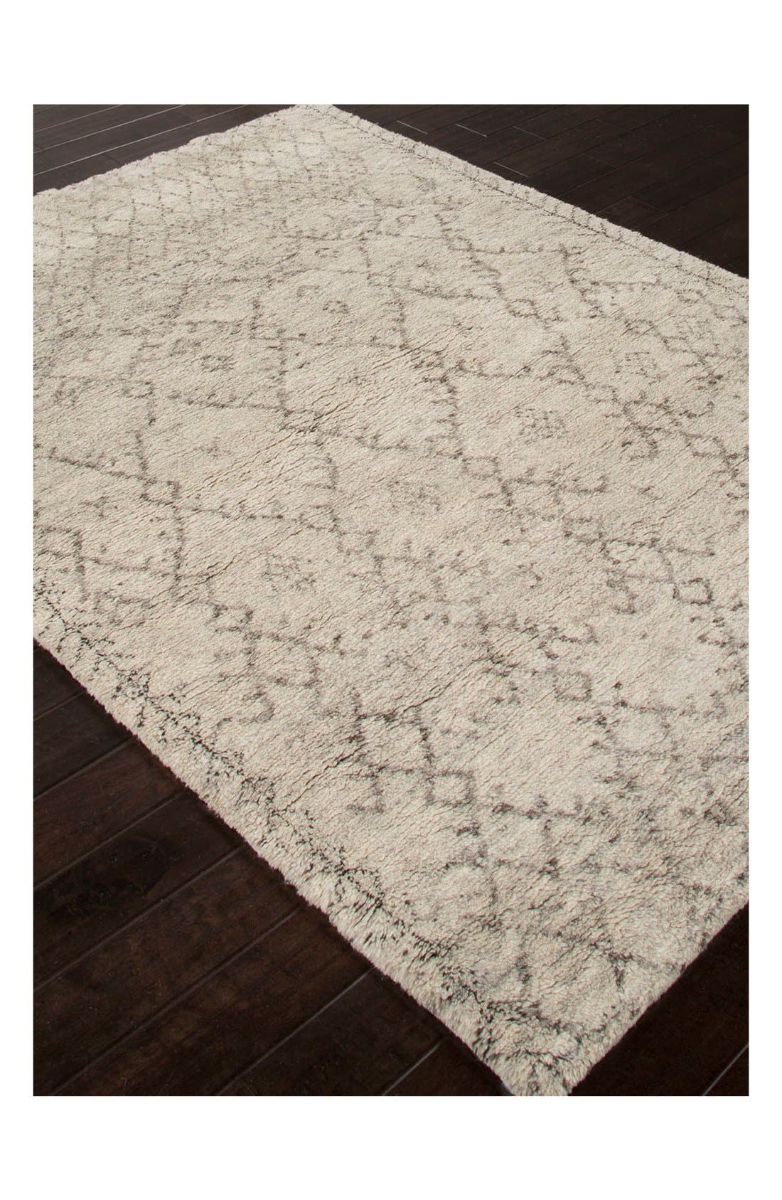 'Zola' Wool Area Rug,                             Alternate thumbnail 3, color,                             IVORY/ GREY