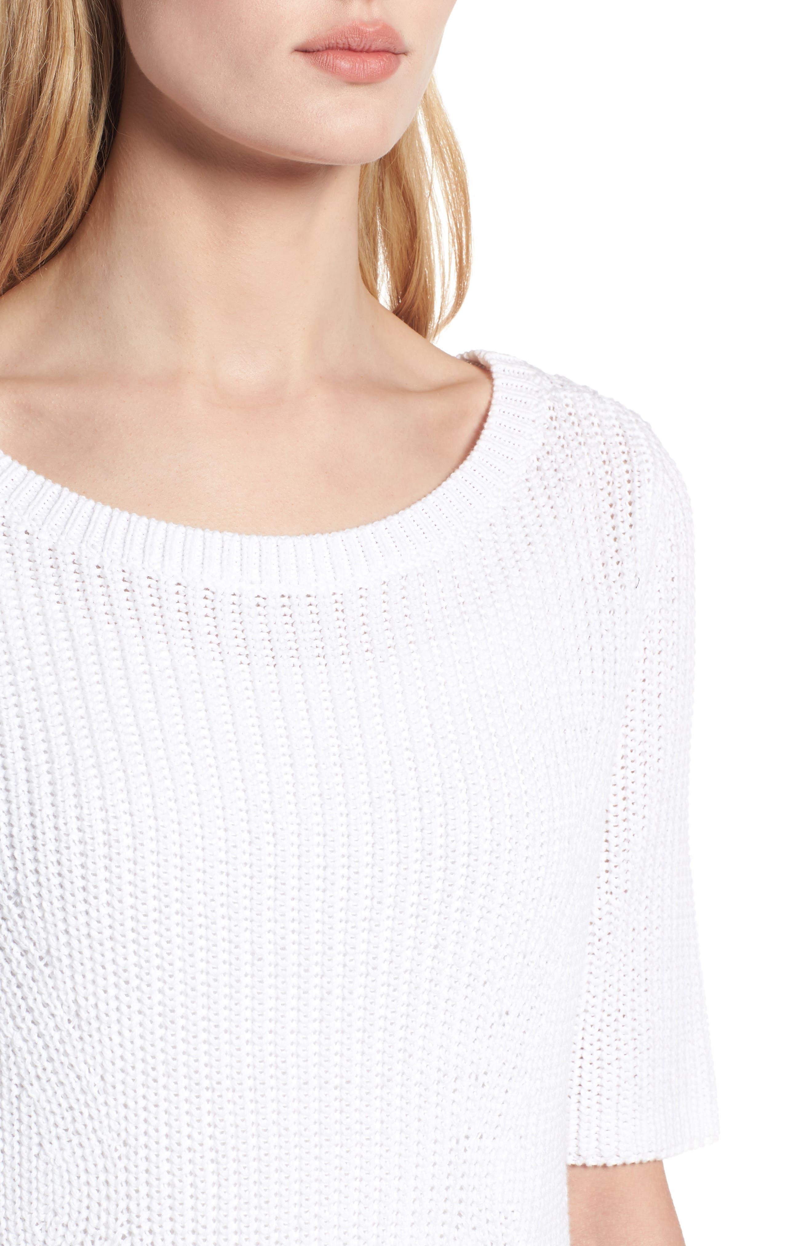 Shaker Stitch Cotton Sweater,                             Alternate thumbnail 8, color,