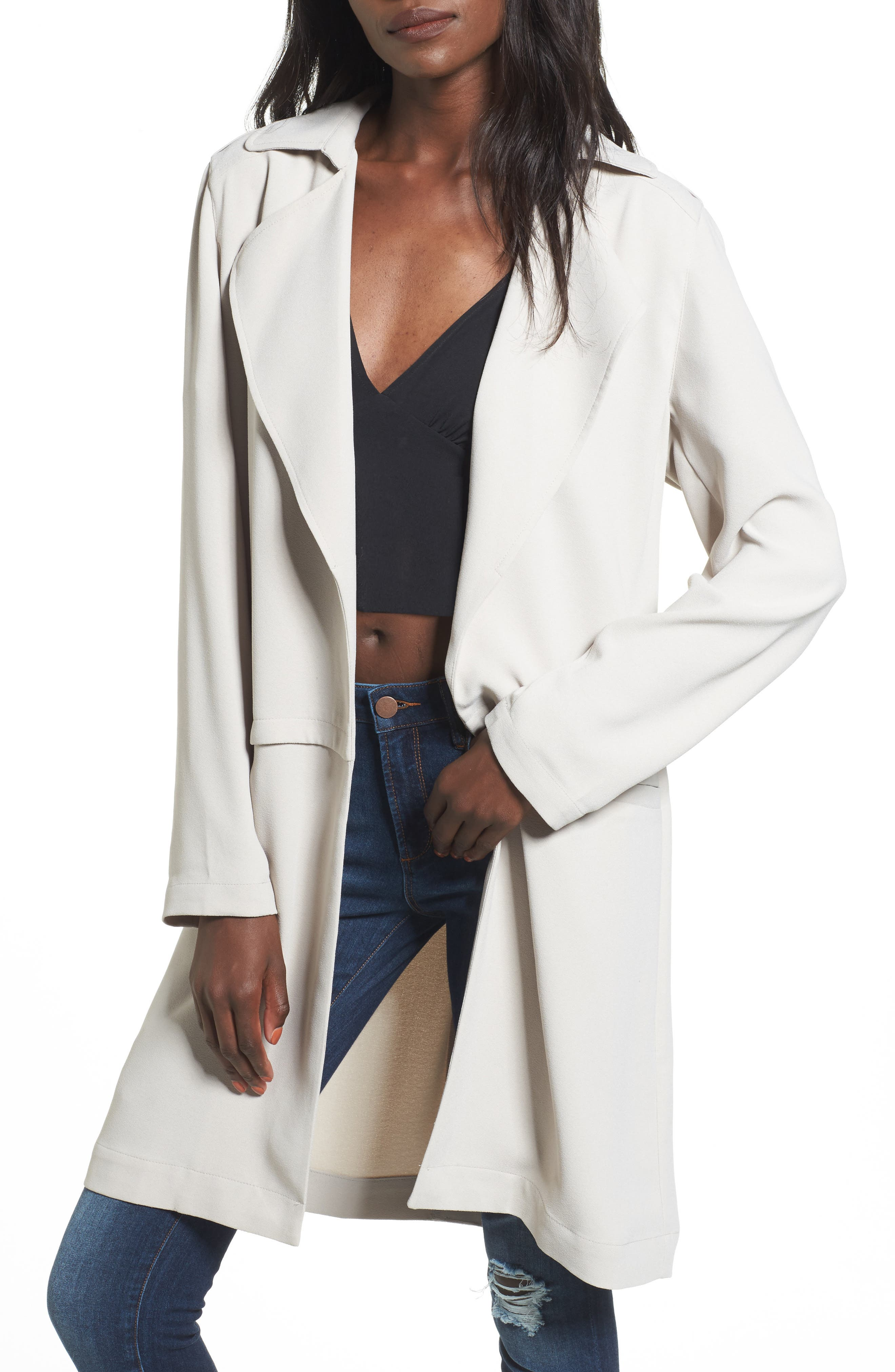 Soft Open Trench Coat,                             Main thumbnail 1, color,                             050
