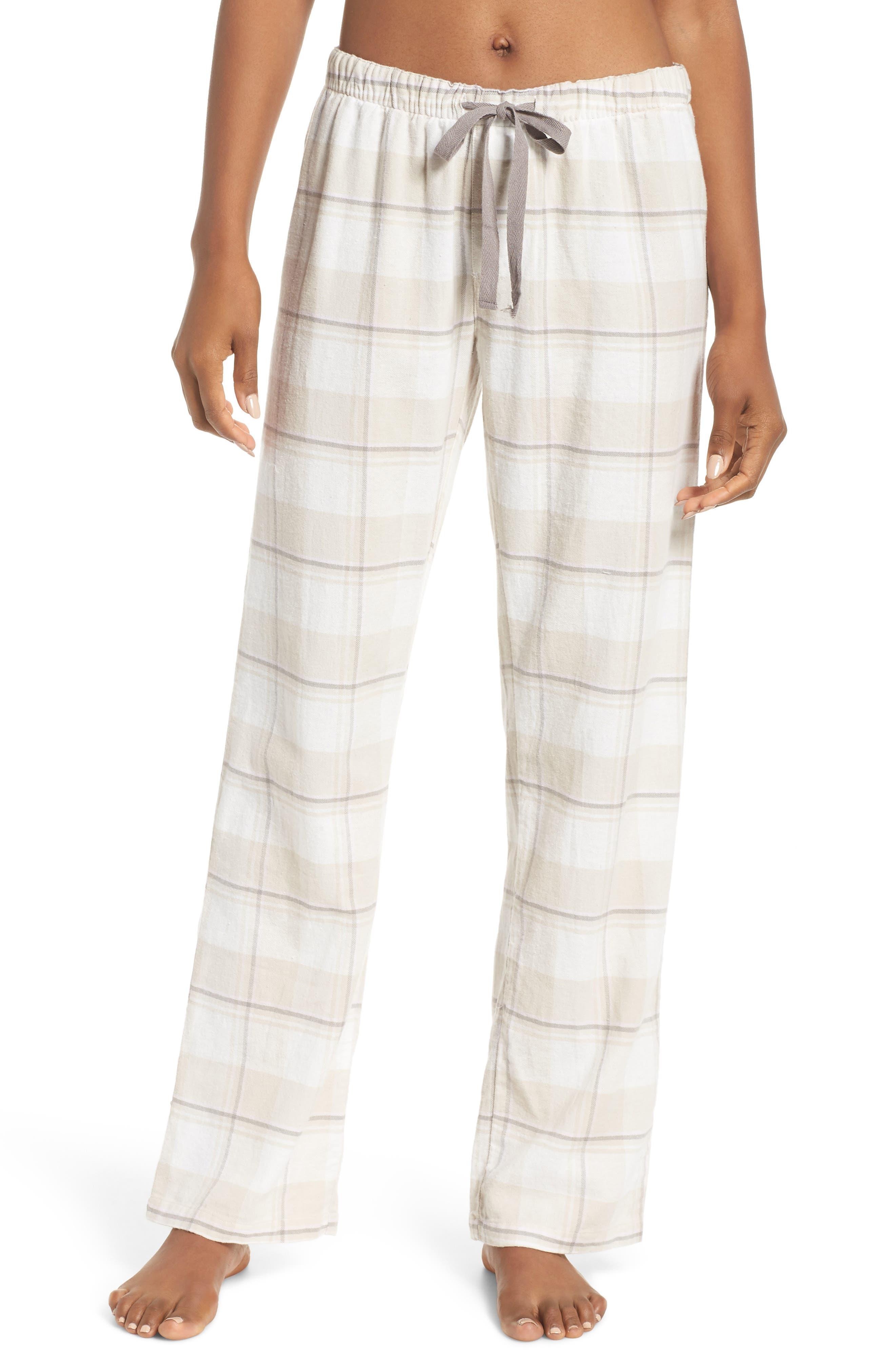 Plaid Pants,                         Main,                         color, CHAMPAGNE