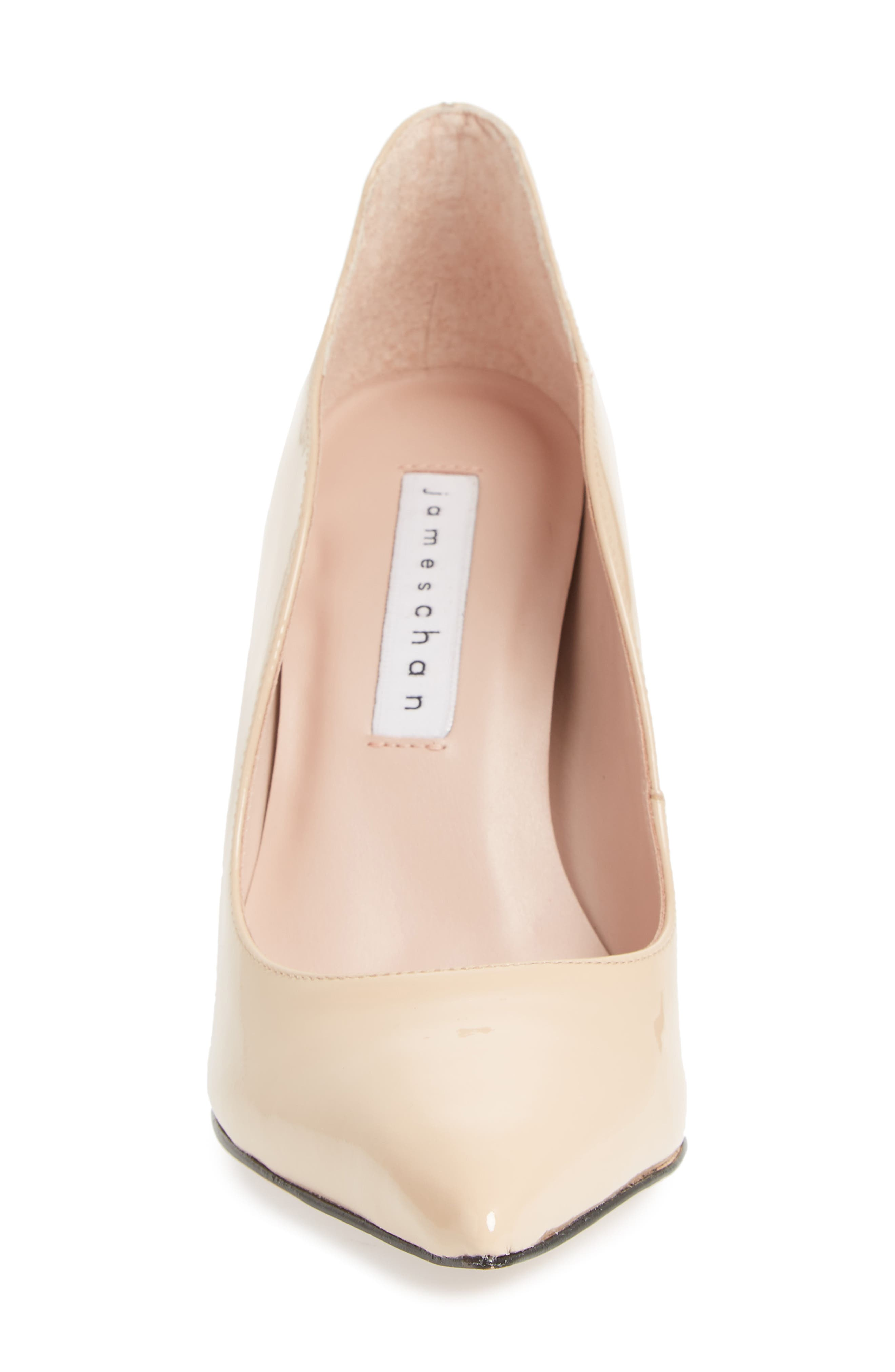 Anika Curvy Pump,                             Alternate thumbnail 4, color,                             NUDE SUEDE