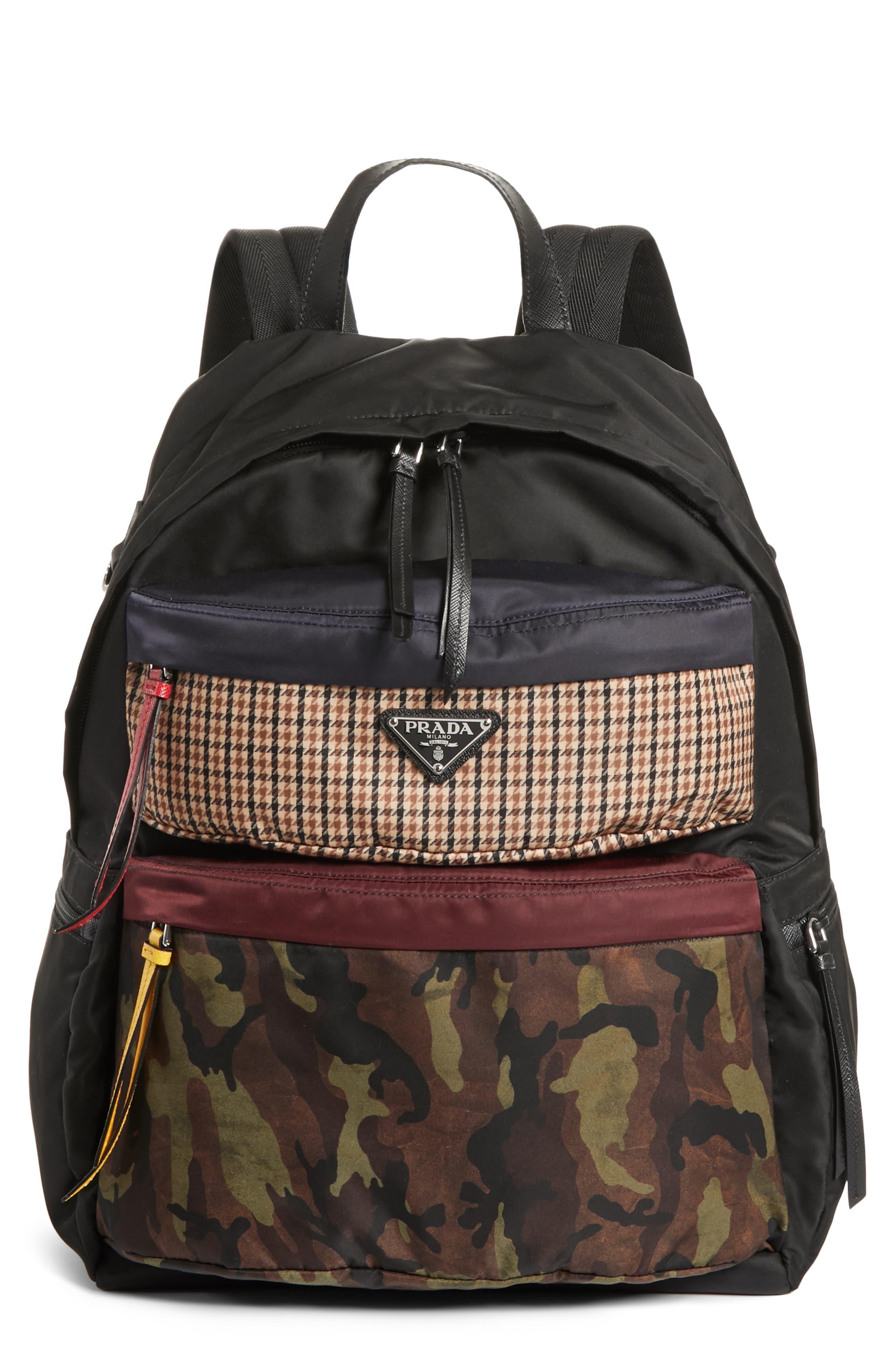 Tessuto Camo Patch Nylon Backpack,                         Main,                         color, CAMO