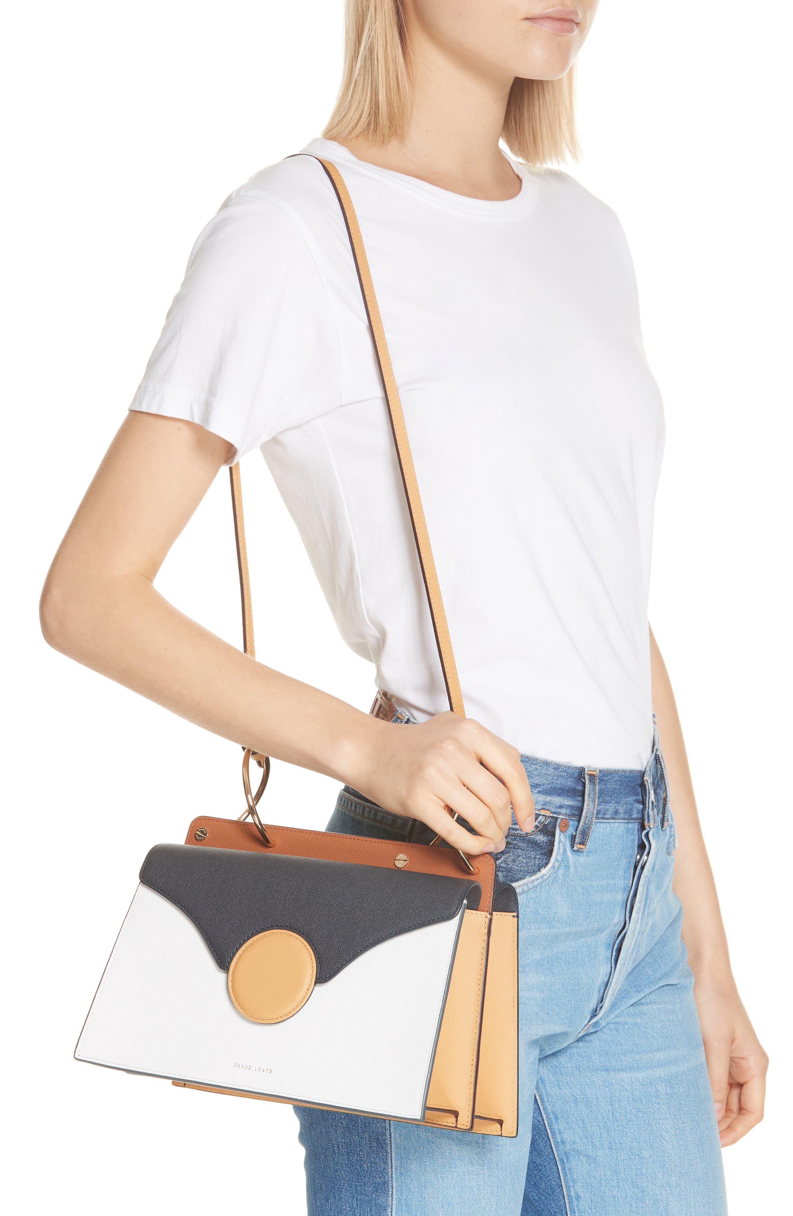 Phoebe Leather Crossbody Bag,                             Alternate thumbnail 2, color,                             MARINE/ SAND