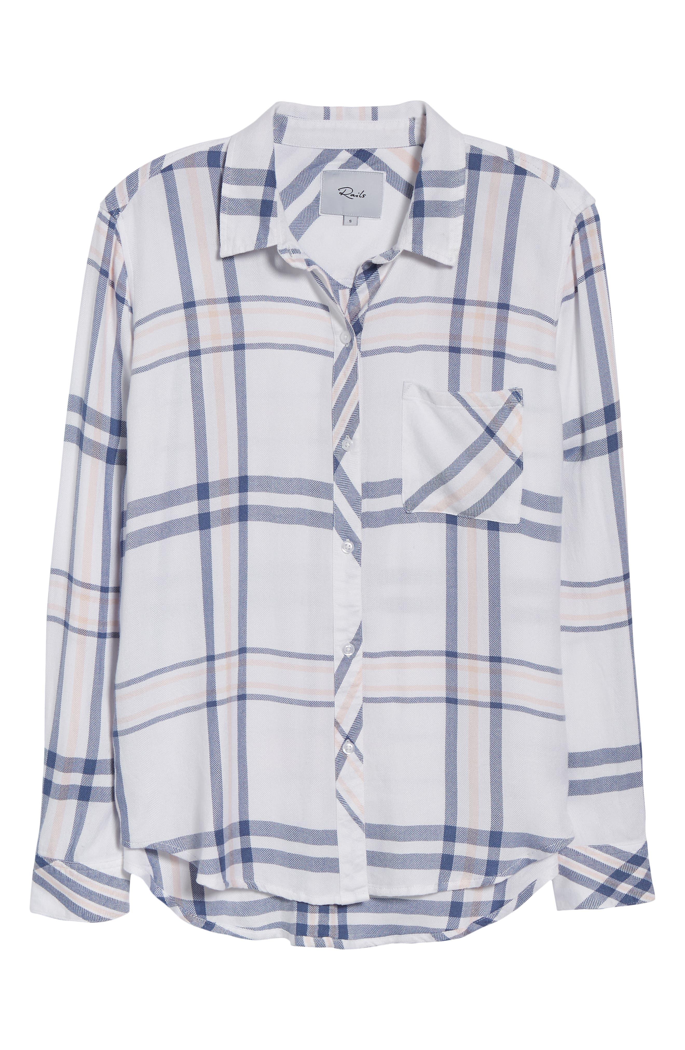 Hunter Plaid Shirt,                             Alternate thumbnail 7, color,                             INDIGO POWDER BLUSH