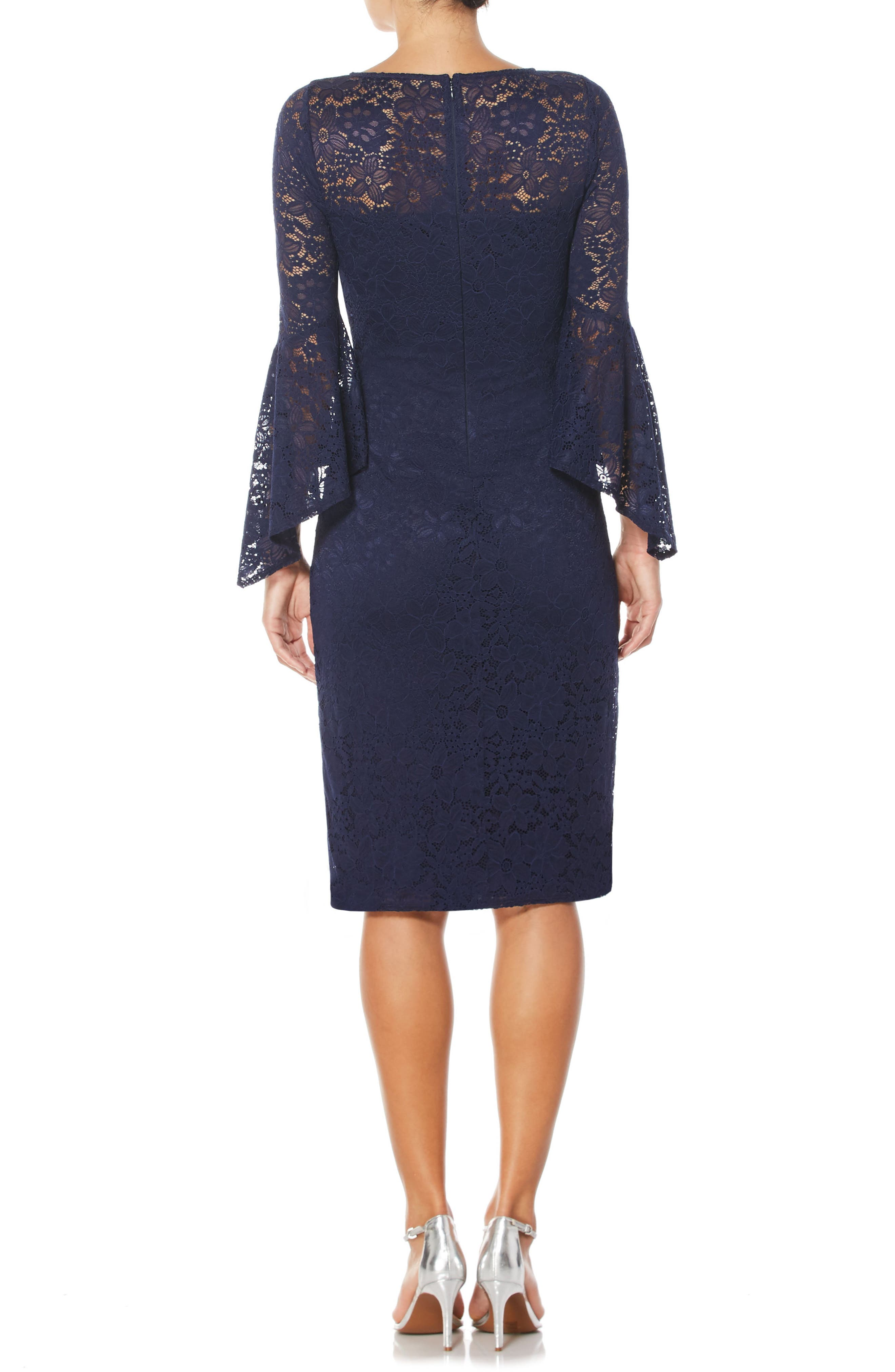 Lace Sheath Dress,                             Alternate thumbnail 2, color,                             479