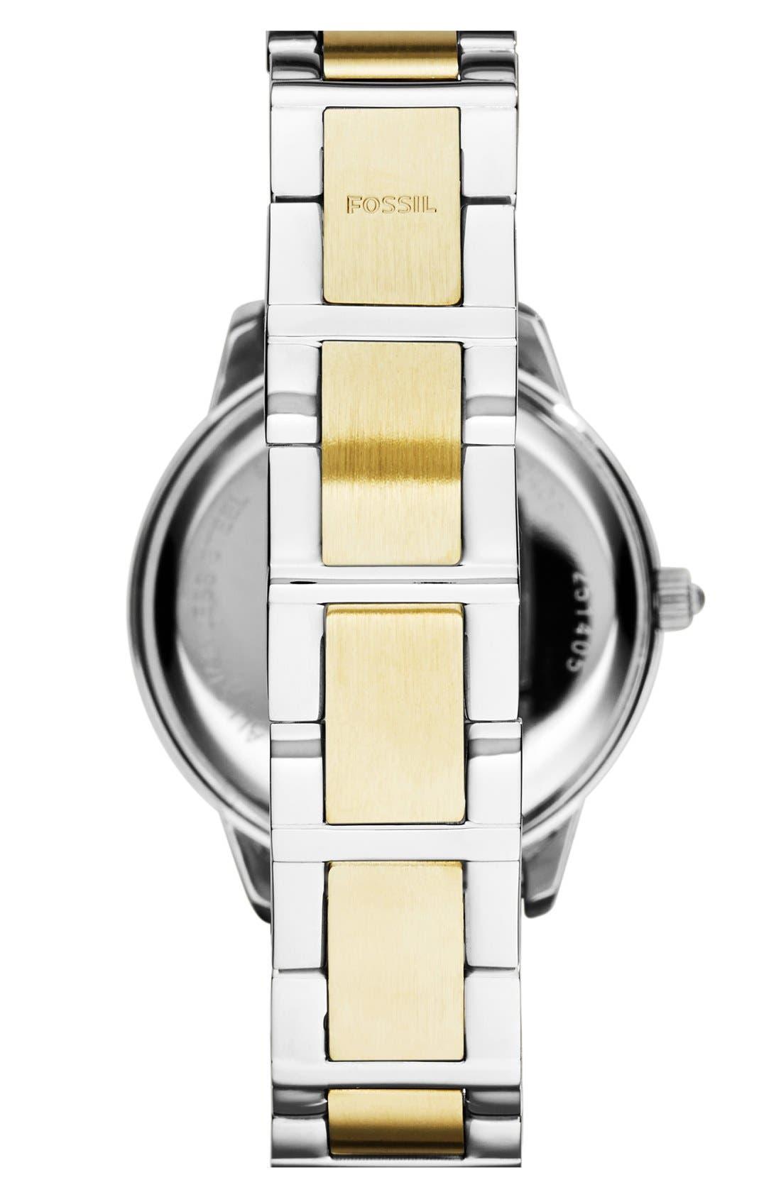 'Jesse' Crystal Embellished Bracelet Watch, 34mm,                             Alternate thumbnail 2, color,                             GOLD / SILVER