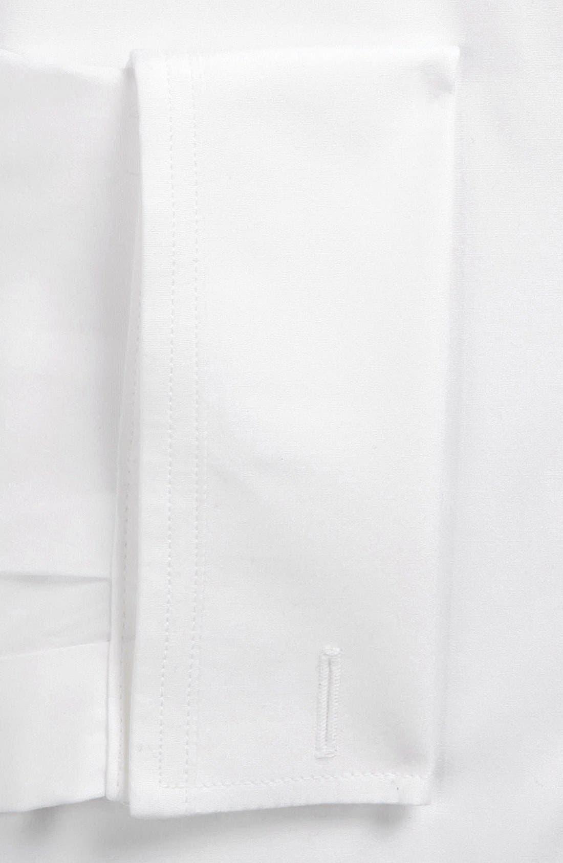 Trim Fit Solid Tuxedo Shirt,                             Alternate thumbnail 2, color,                             100