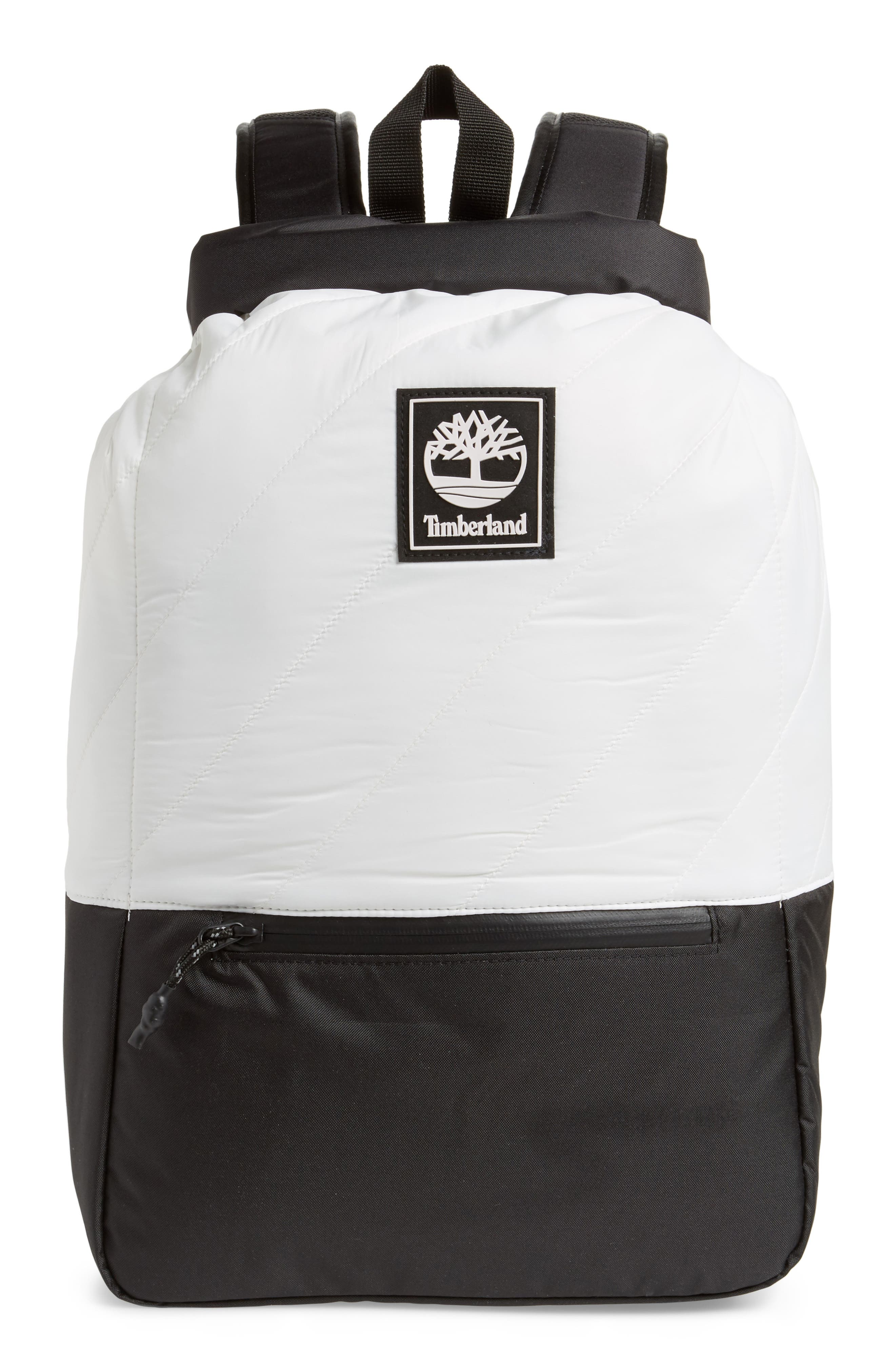 Timberland Roll Top Backpack - White