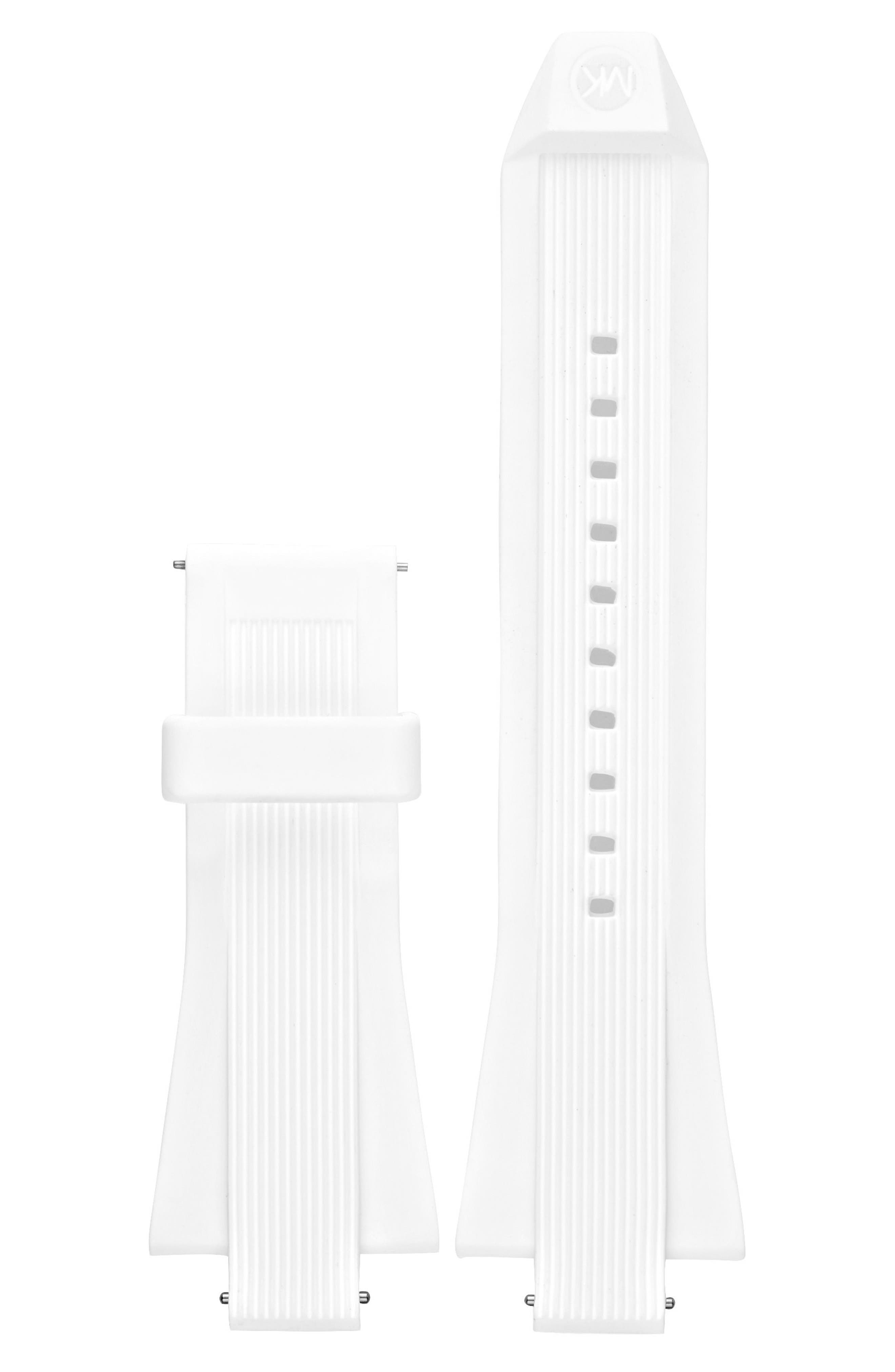 Dylan 28mm Silicone Watch Strap,                         Main,                         color, WHITE