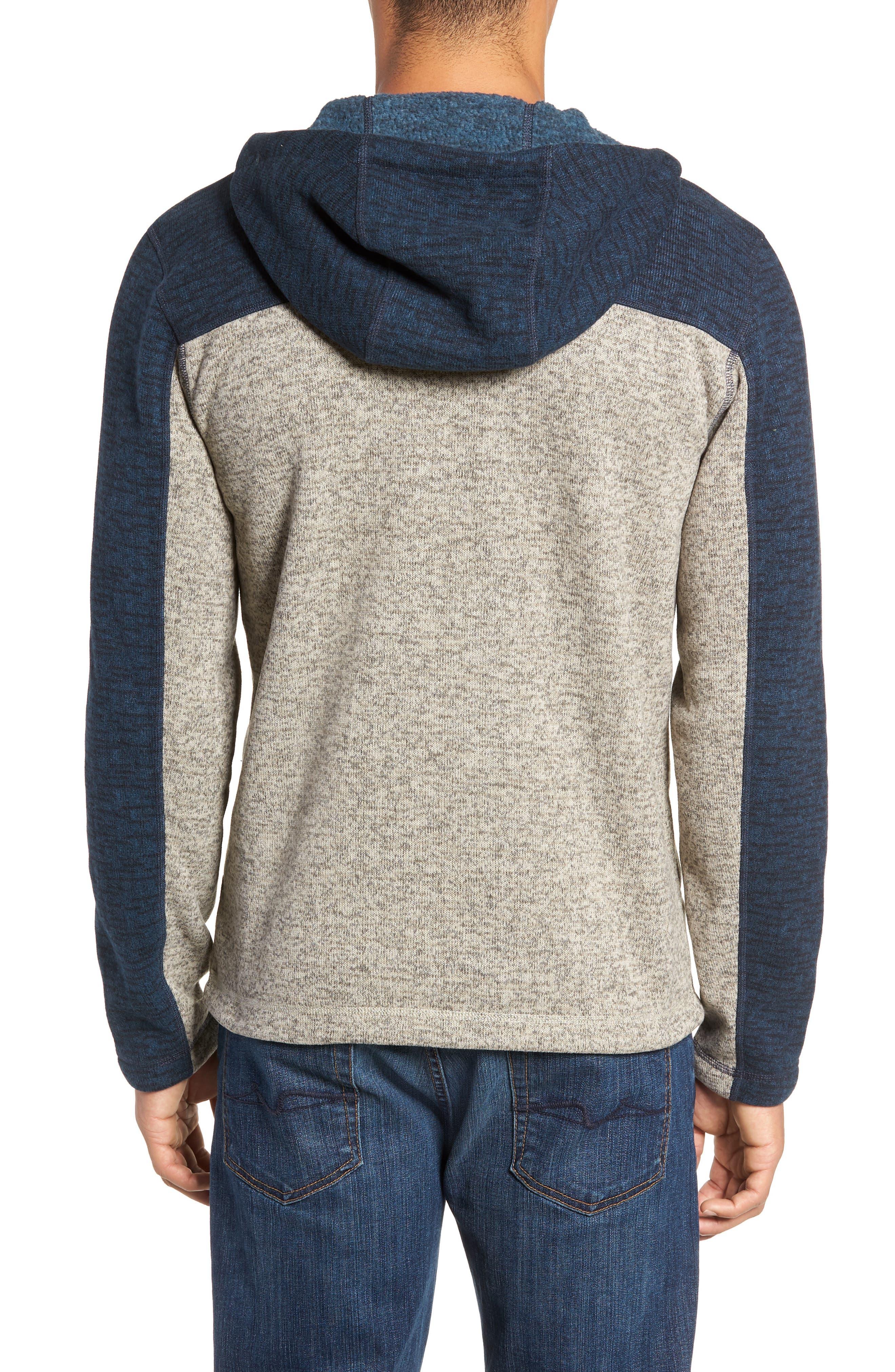 Gordon Lyons Alpine Sweater Fleece Hoodie,                             Alternate thumbnail 2, color,                             URBAN NAVY/ GRANITE BLUFF TAN
