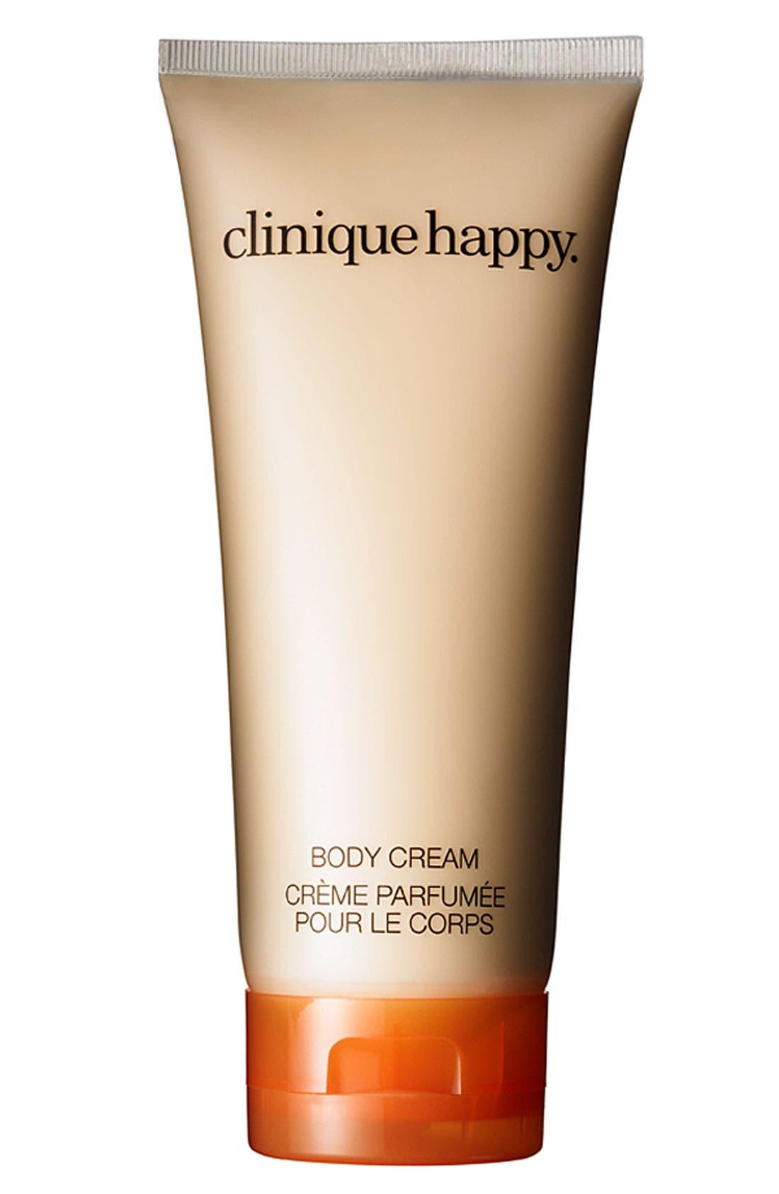 CLINIQUE,                             Happy Body Cream,                             Main thumbnail 1, color,                             NO COLOR