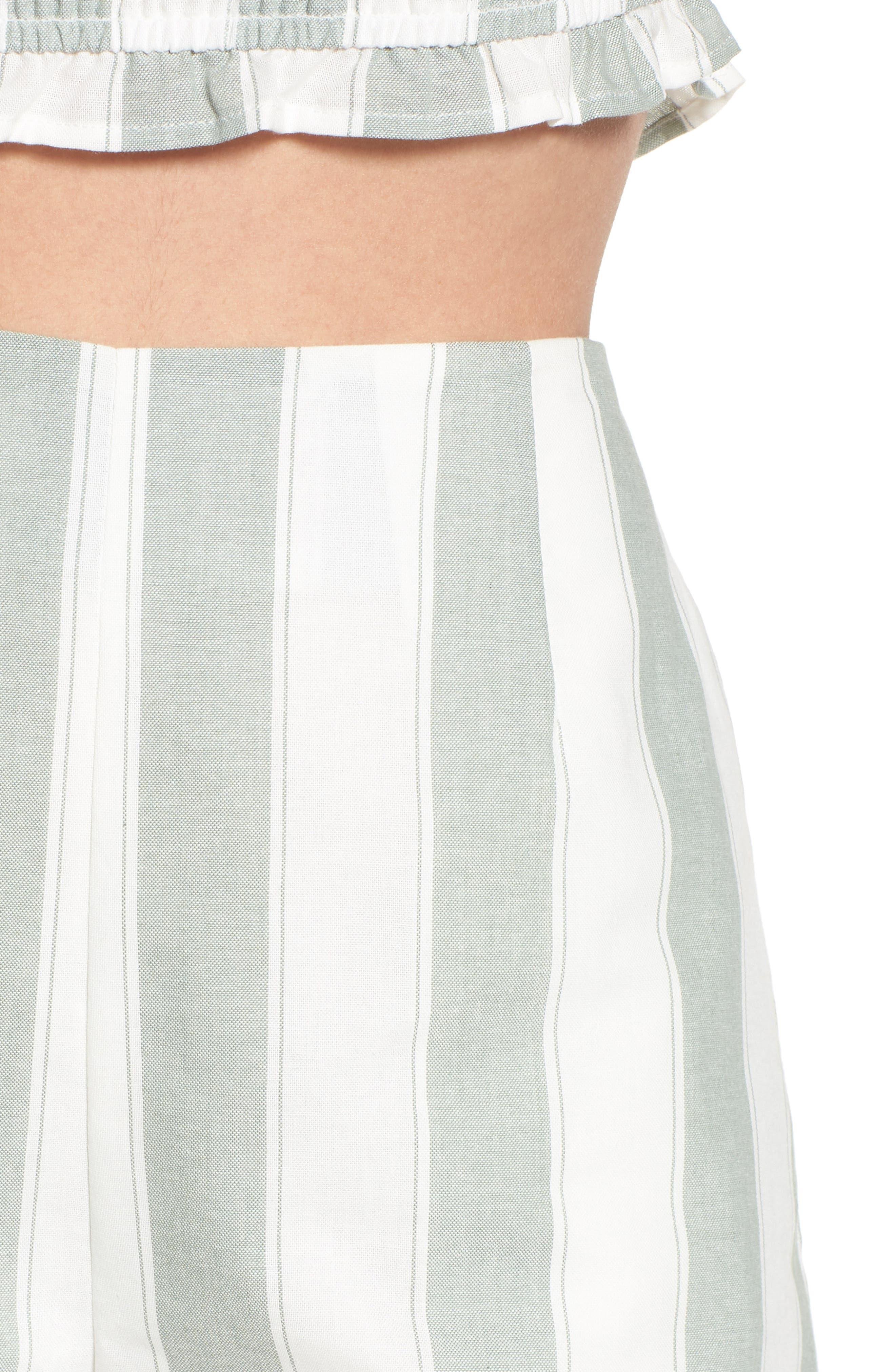 Poetic Stripe Shorts,                             Alternate thumbnail 4, color,