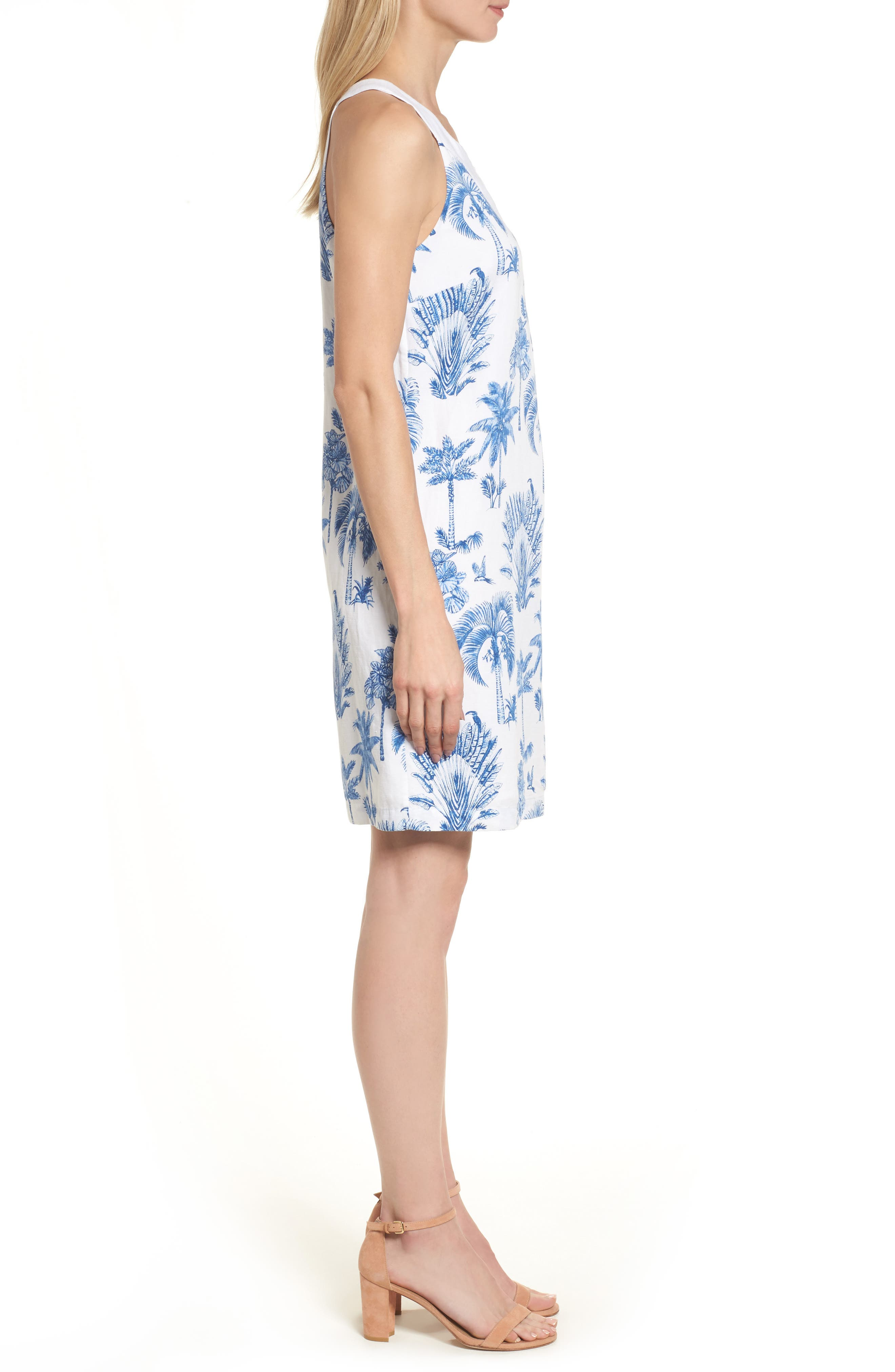 Having a Toile Shift Dress,                             Alternate thumbnail 3, color,                             DOCKSIDE BLUE
