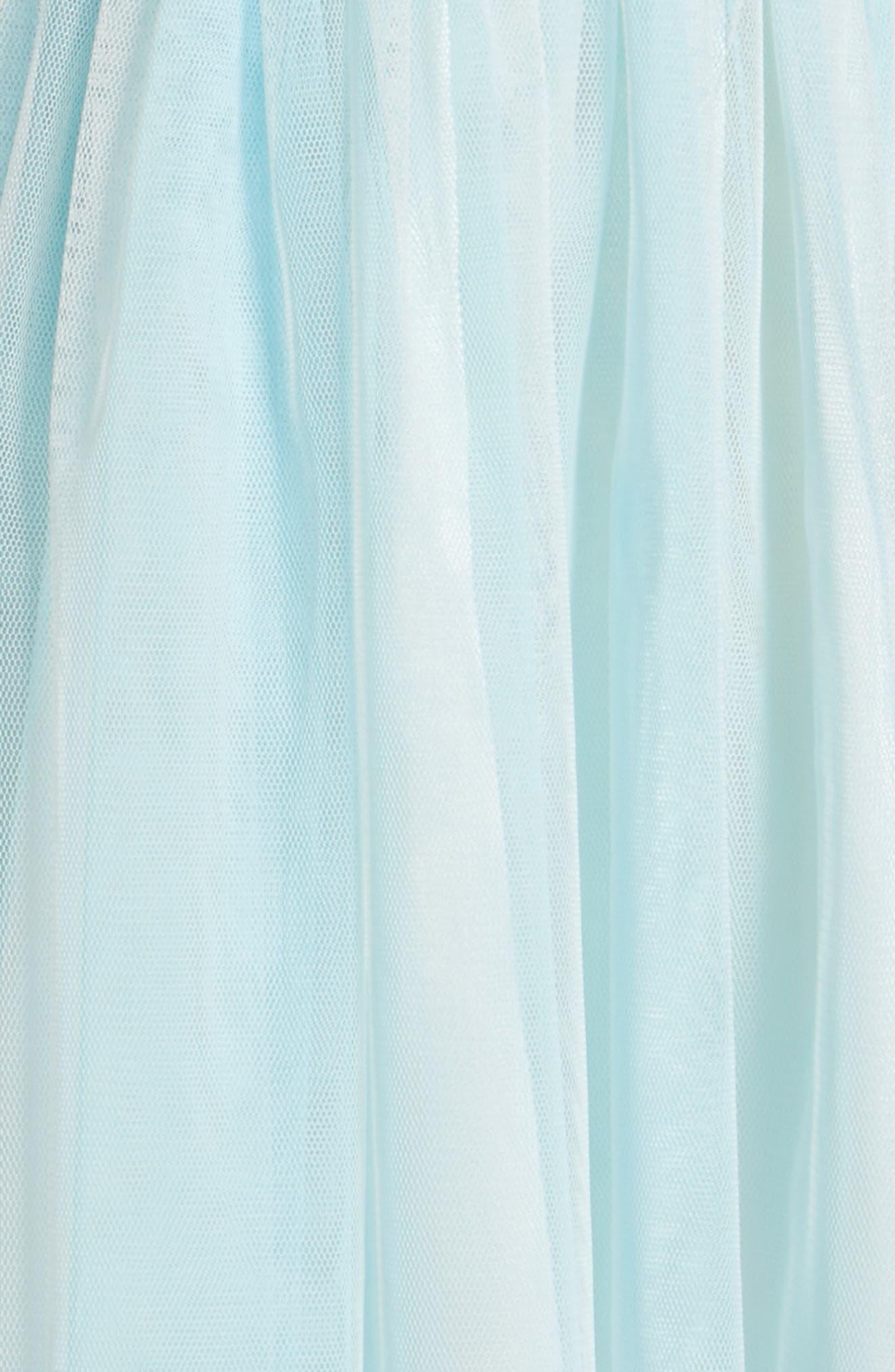 Sleeveless Floral Dress,                             Alternate thumbnail 3, color,                             BLUE
