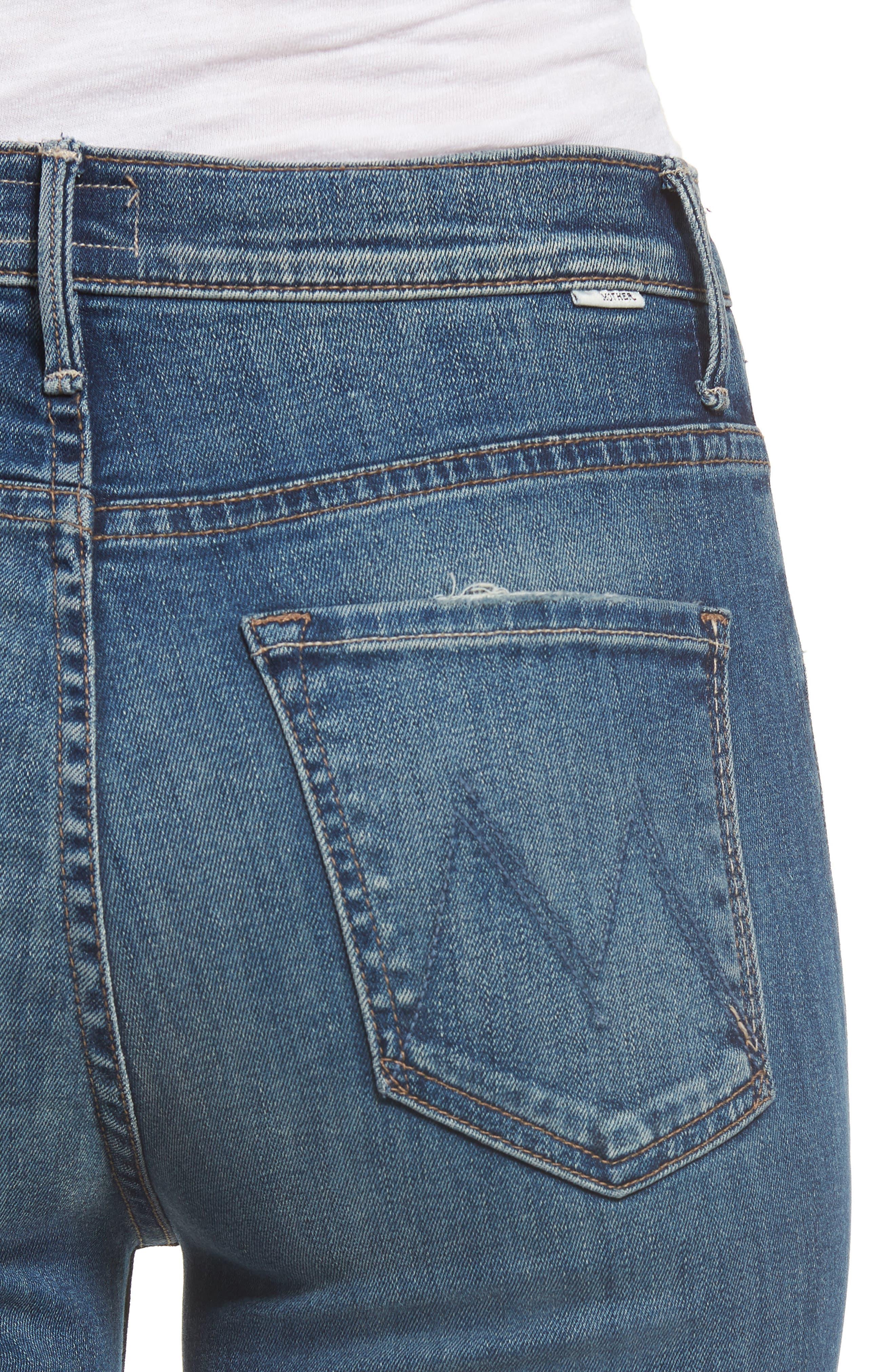 The Swooner High Waist Crop Wide Leg Jeans,                             Alternate thumbnail 4, color,                             429
