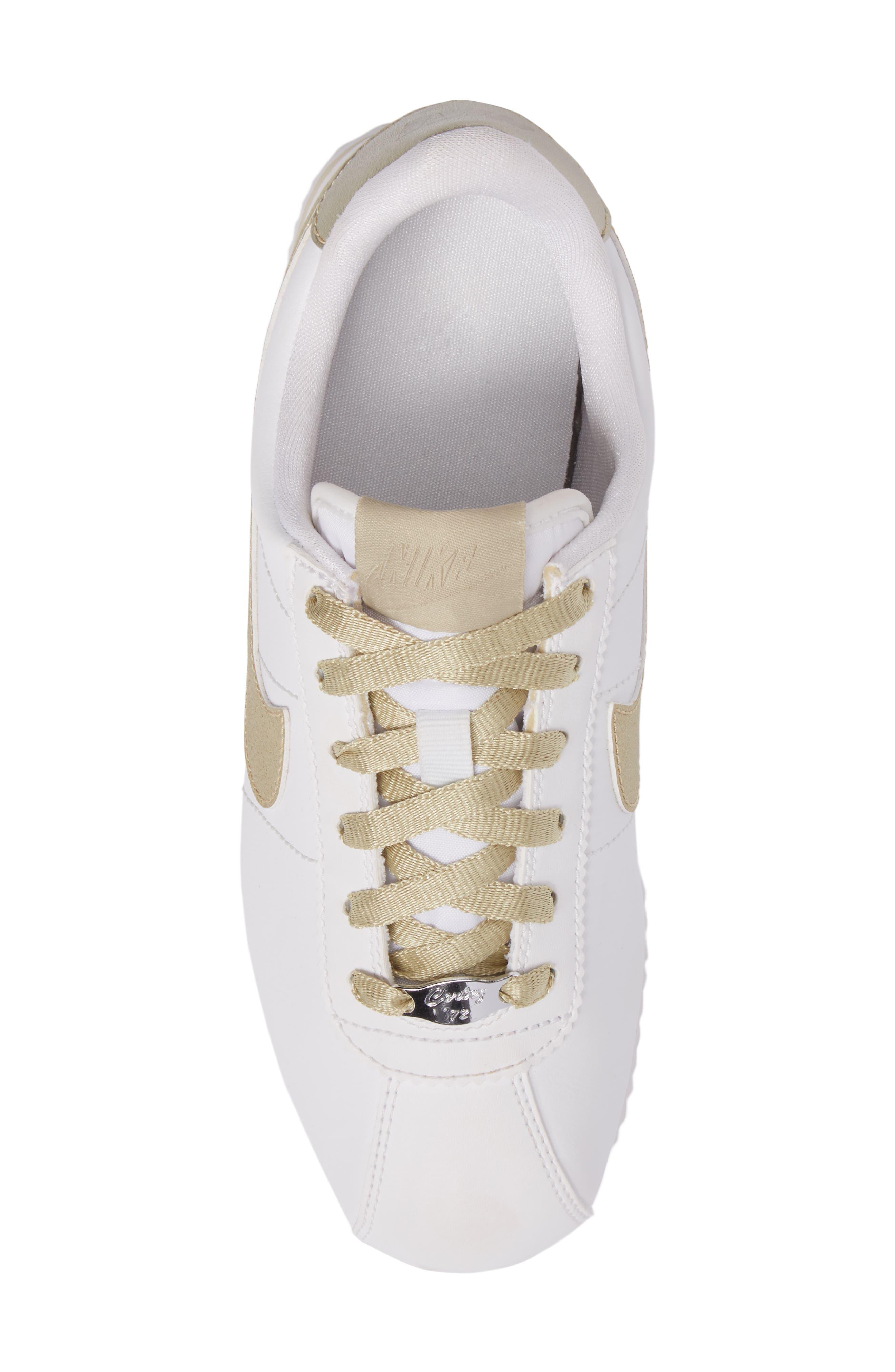 Cortez Basic SE Sneaker,                             Alternate thumbnail 5, color,                             101