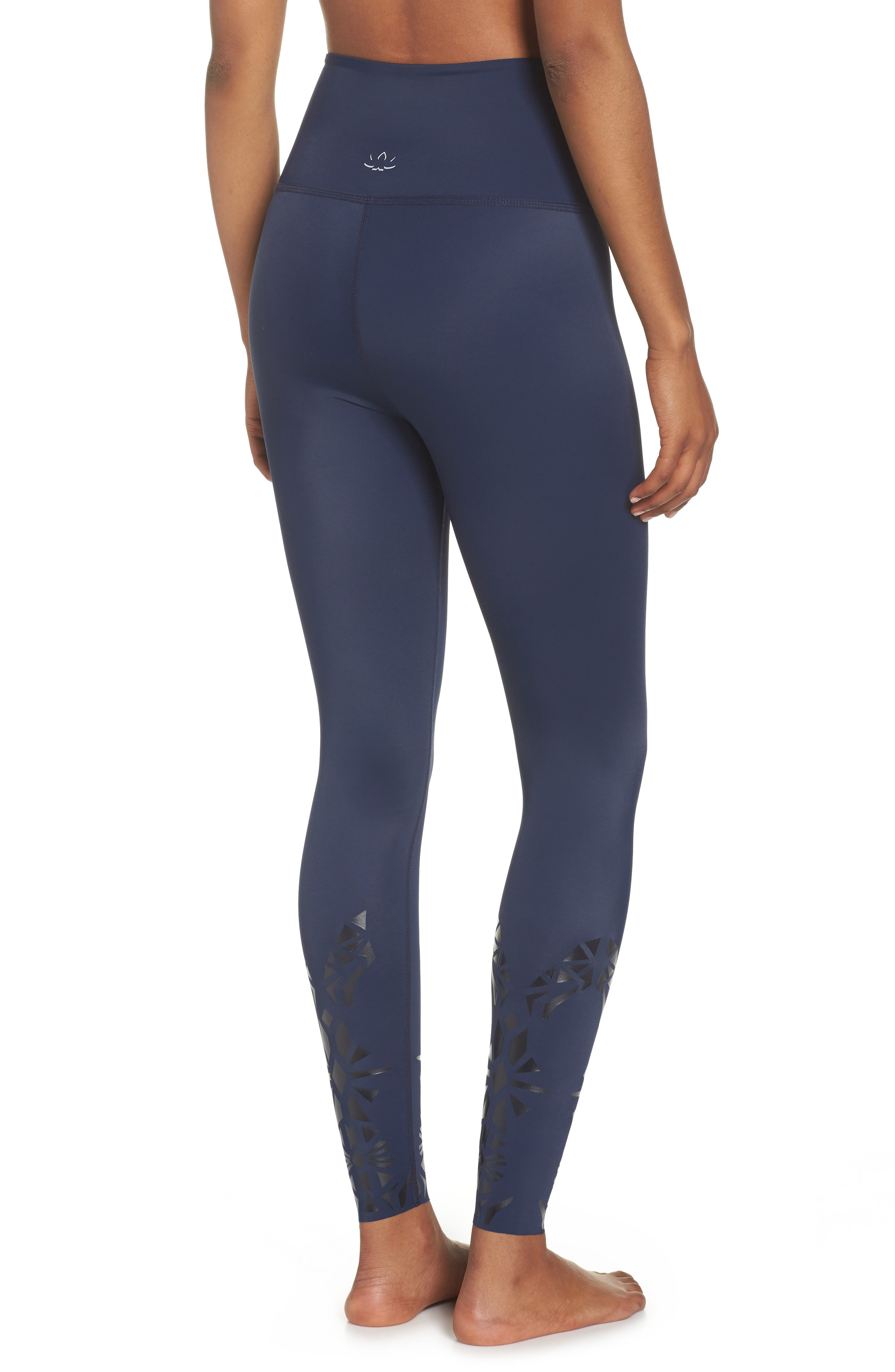 Calico High Waist Leggings,                             Alternate thumbnail 2, color,                             418