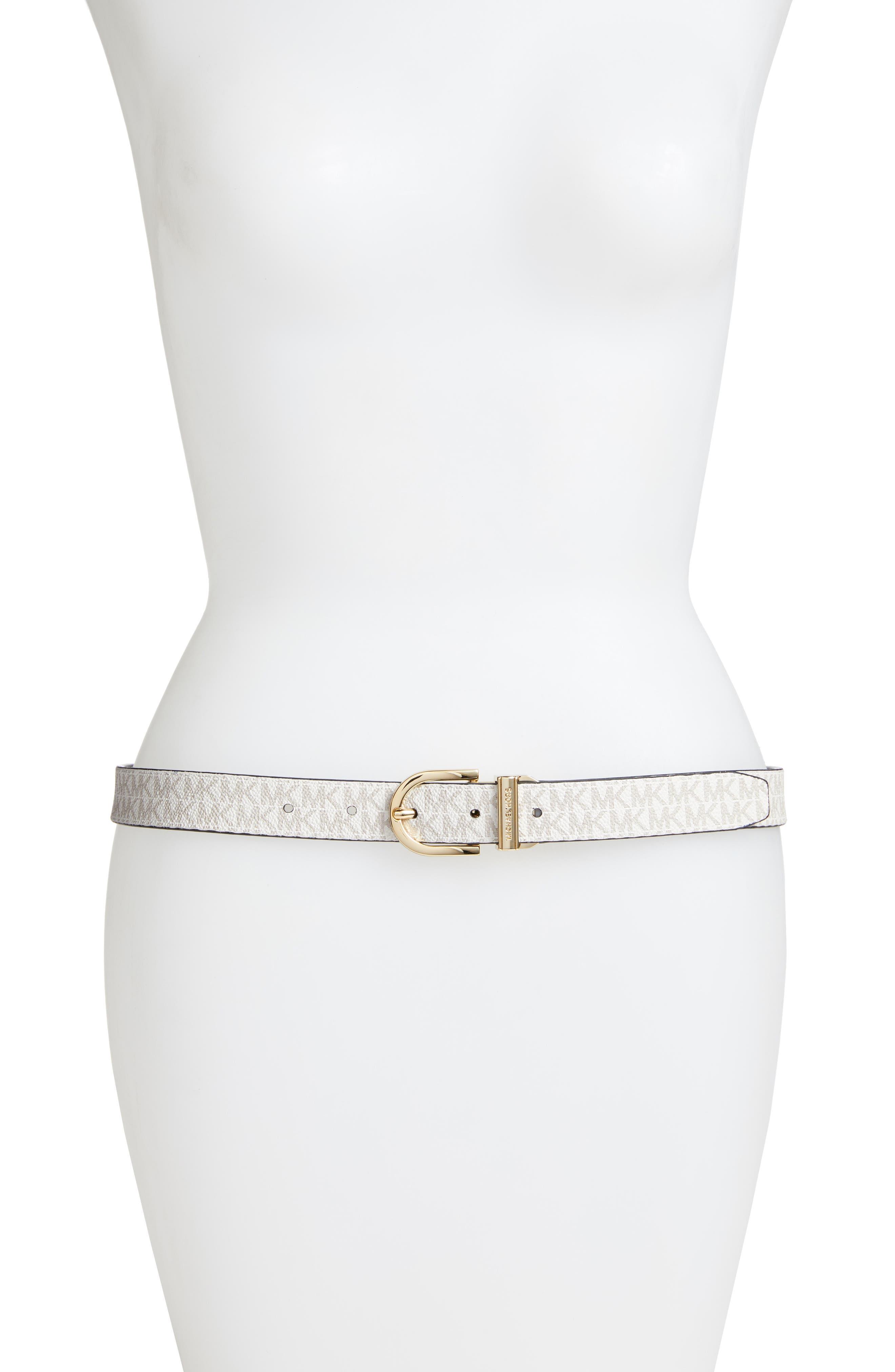 Reversible Leather Belt,                             Alternate thumbnail 3, color,                             NAVY / VANILLA