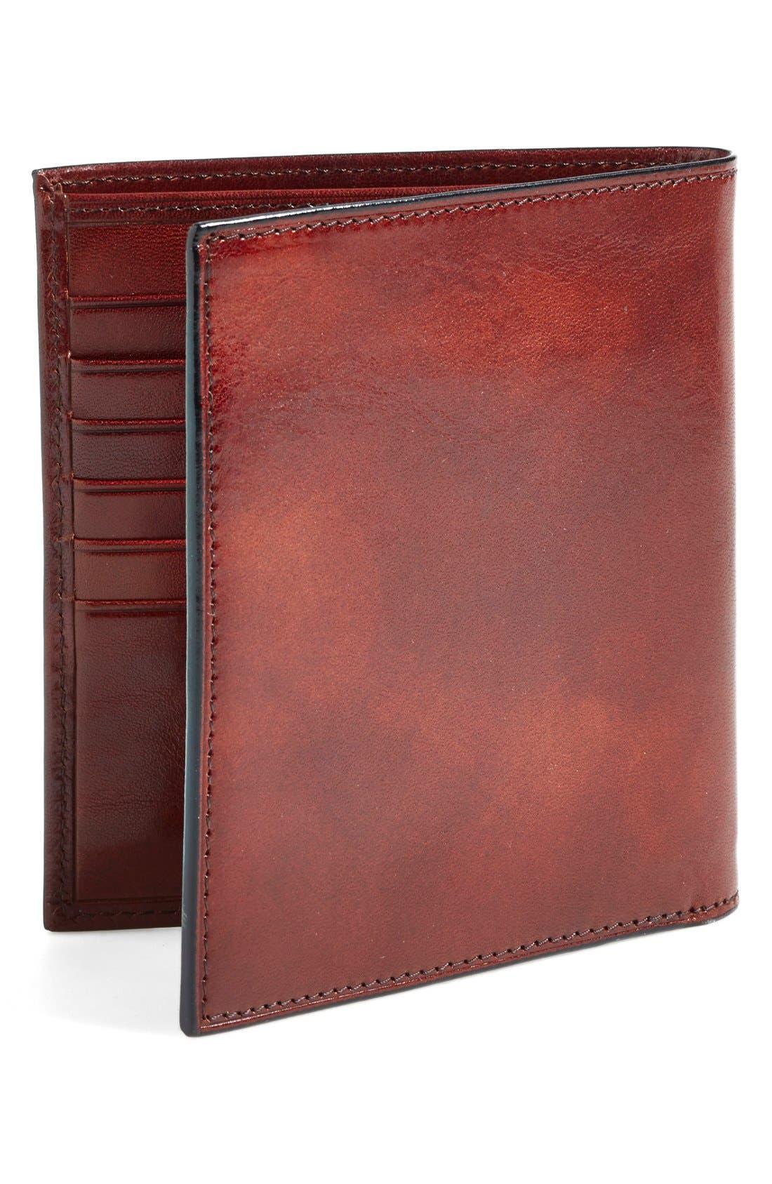 'Old Leather' Credit Wallet,                             Alternate thumbnail 2, color,                             DARK BROWN