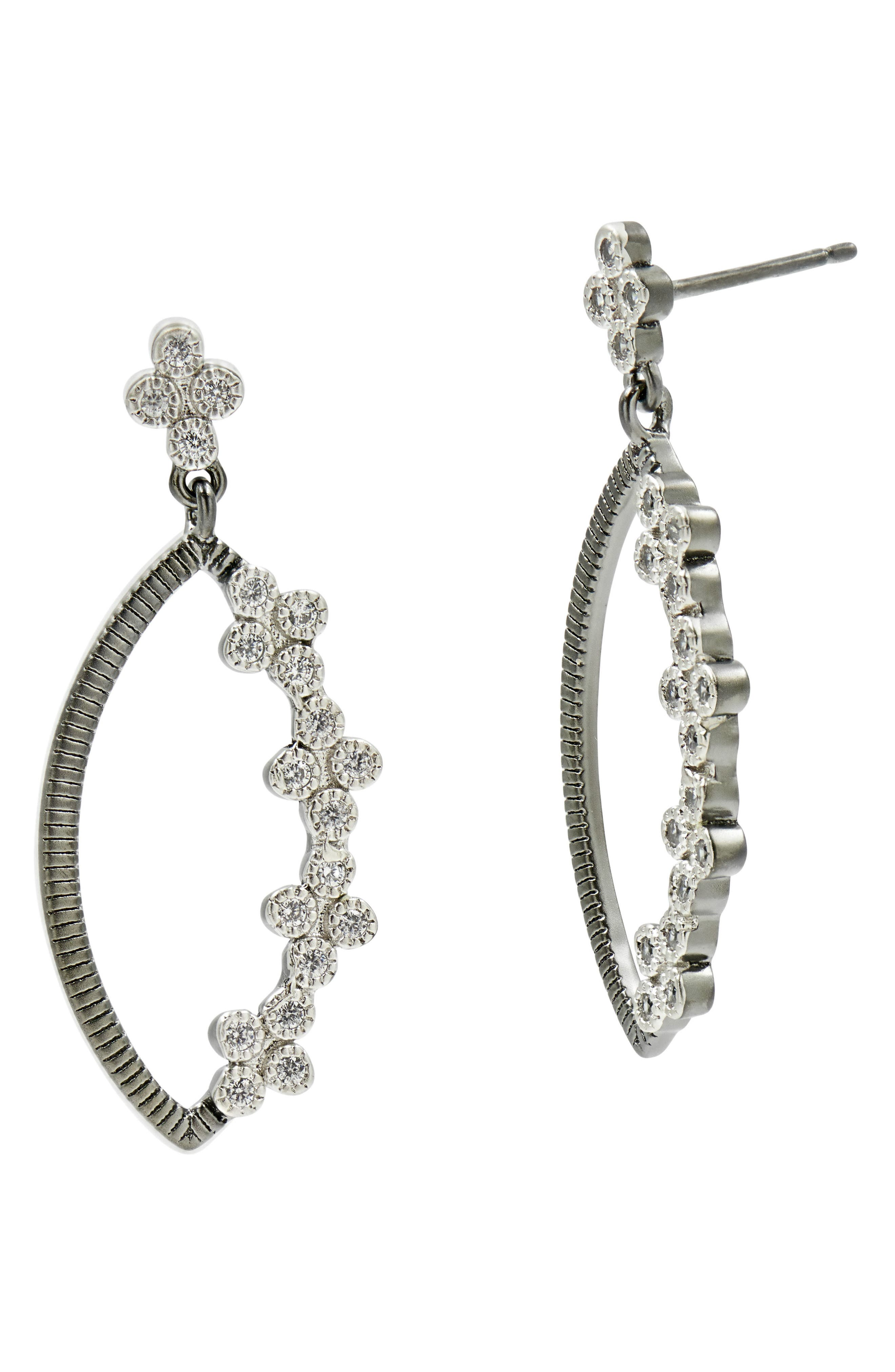 Industrial Finish Marquise Drop Earrings,                             Main thumbnail 1, color,                             049