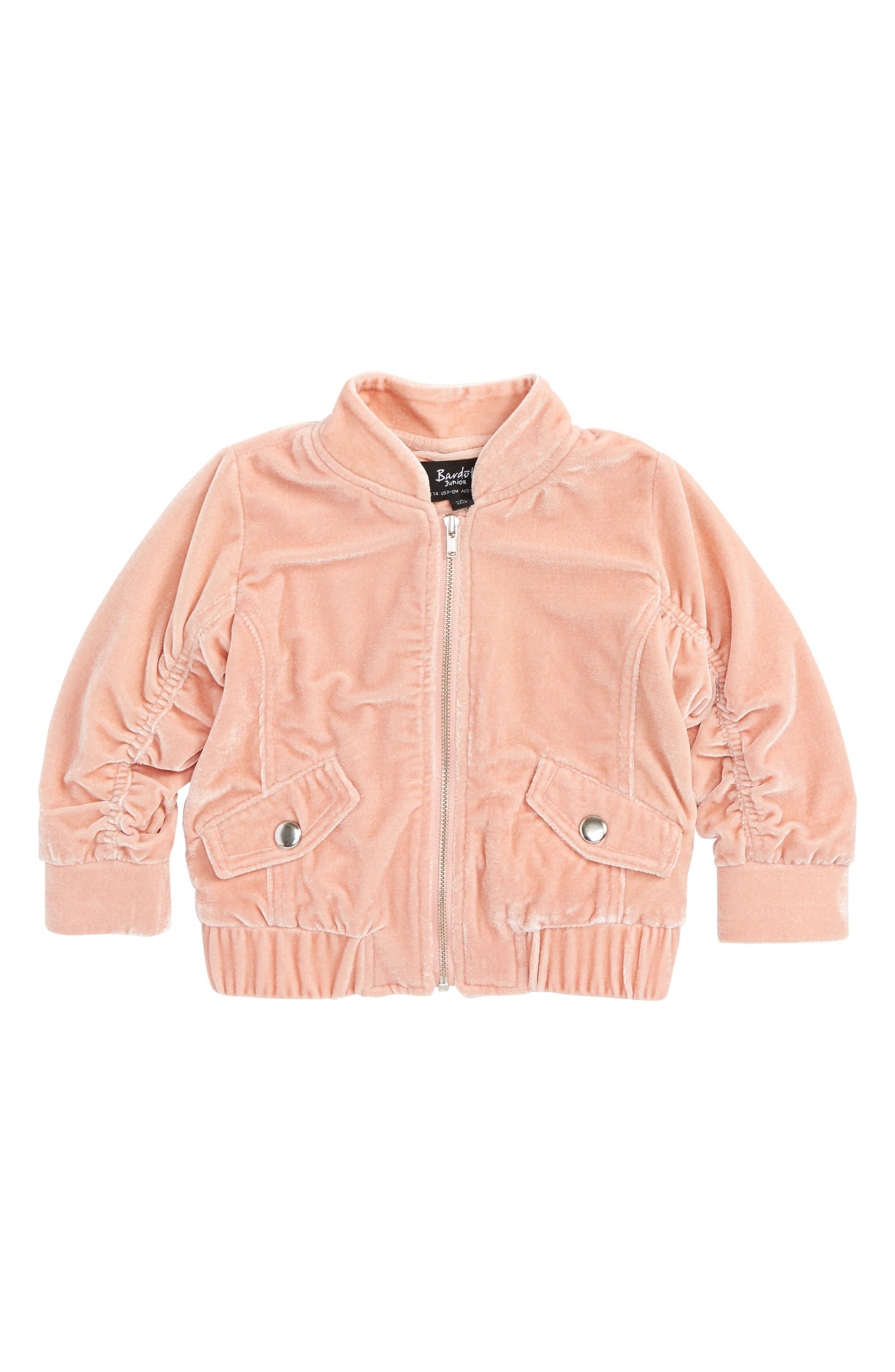 Mackenzie Velvet Bomber Jacket,                         Main,                         color,