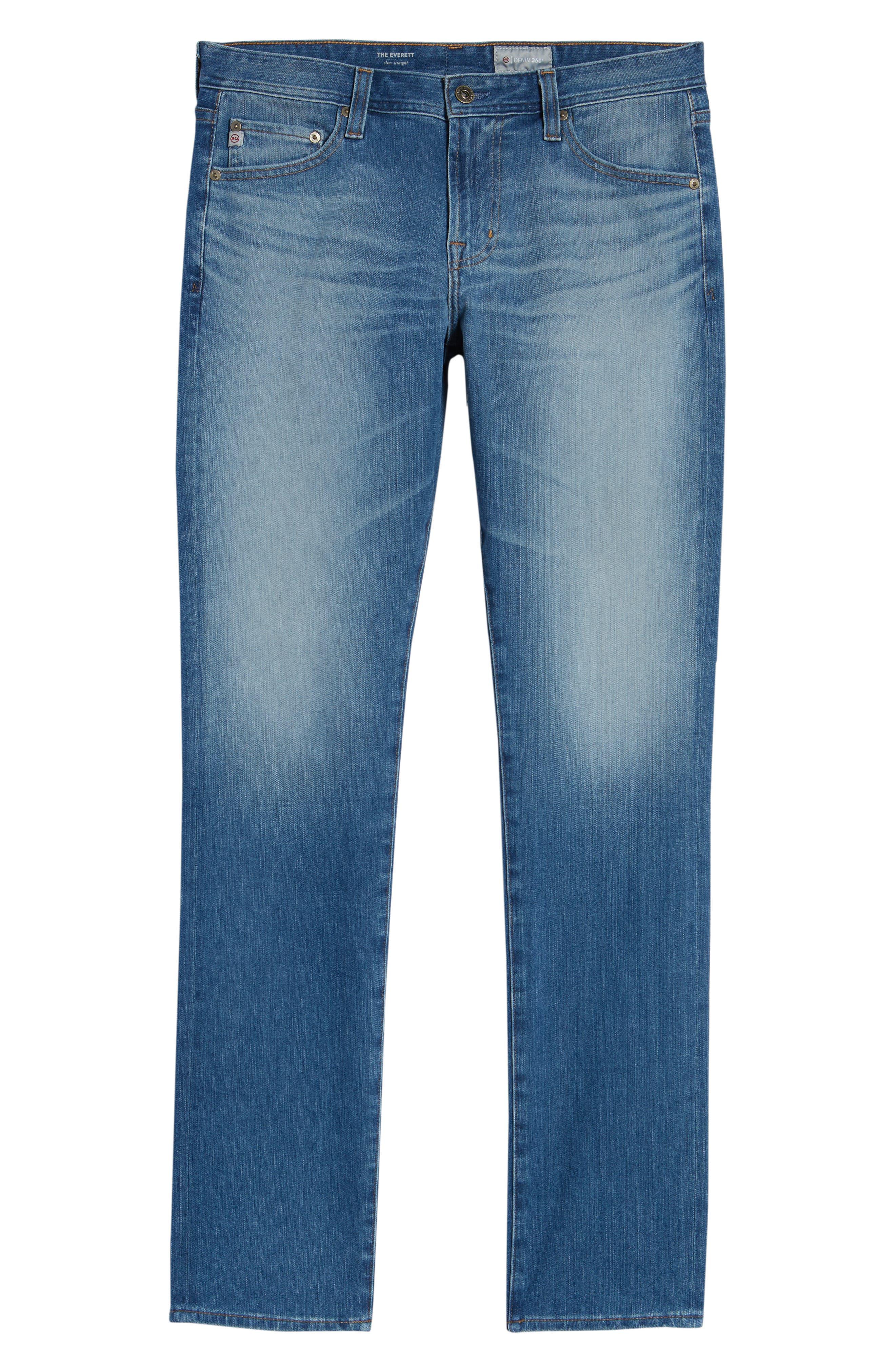 Everett Slim Straight Leg Jeans,                             Alternate thumbnail 6, color,                             487