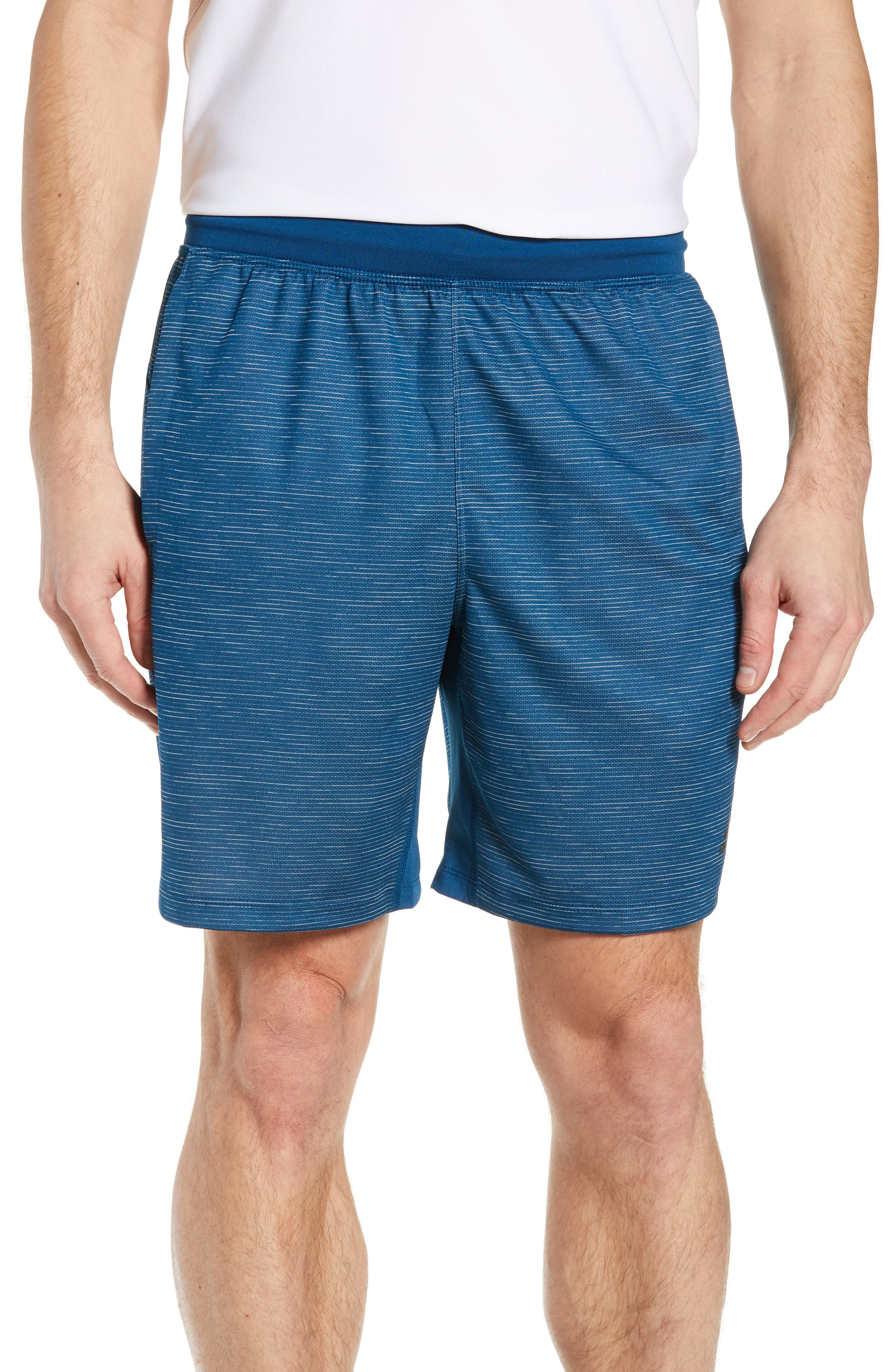Adidas Knit Shorts, Blue