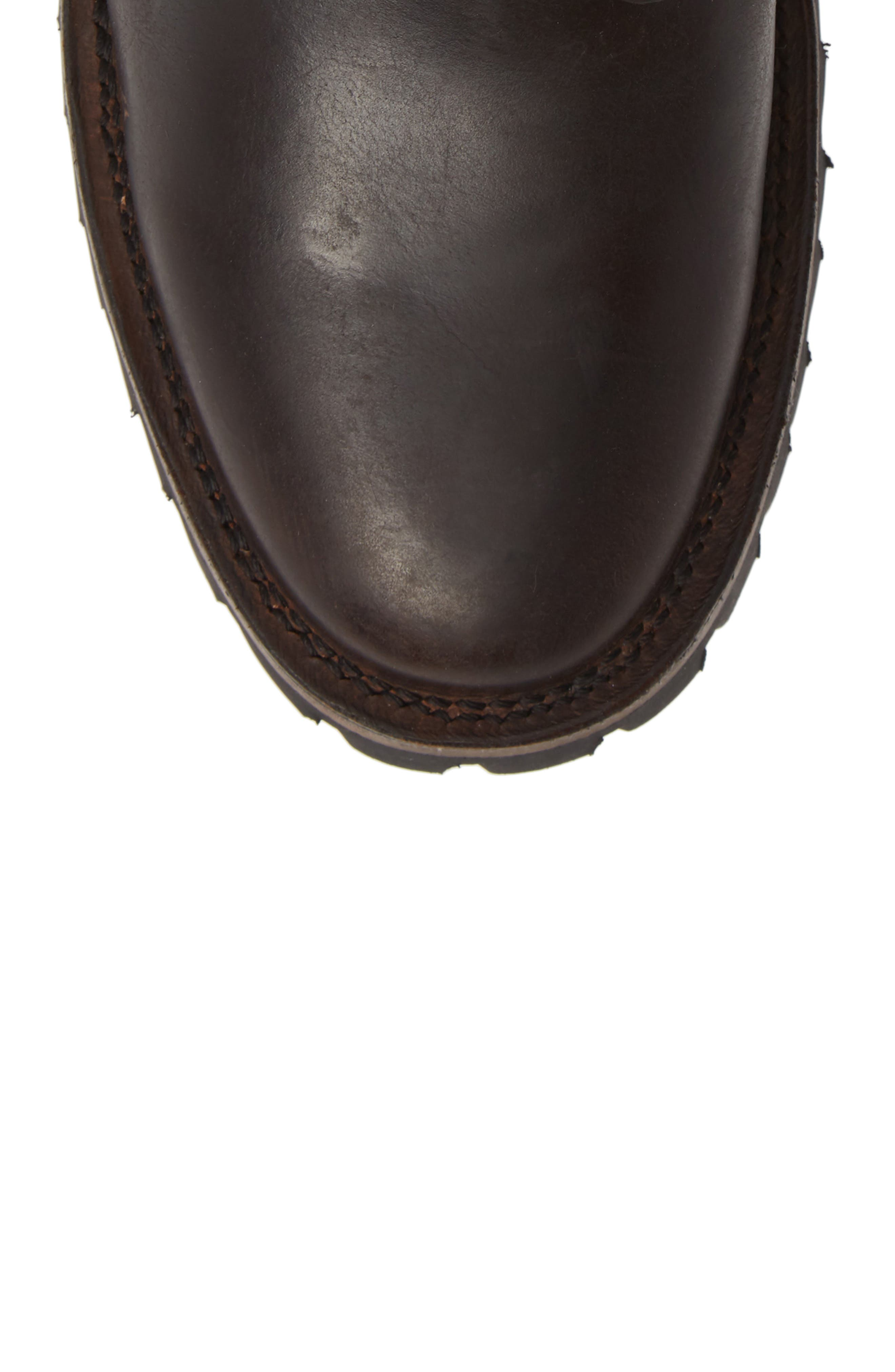 Union Plain Toe Boot,                             Alternate thumbnail 5, color,                             DARK BROWN
