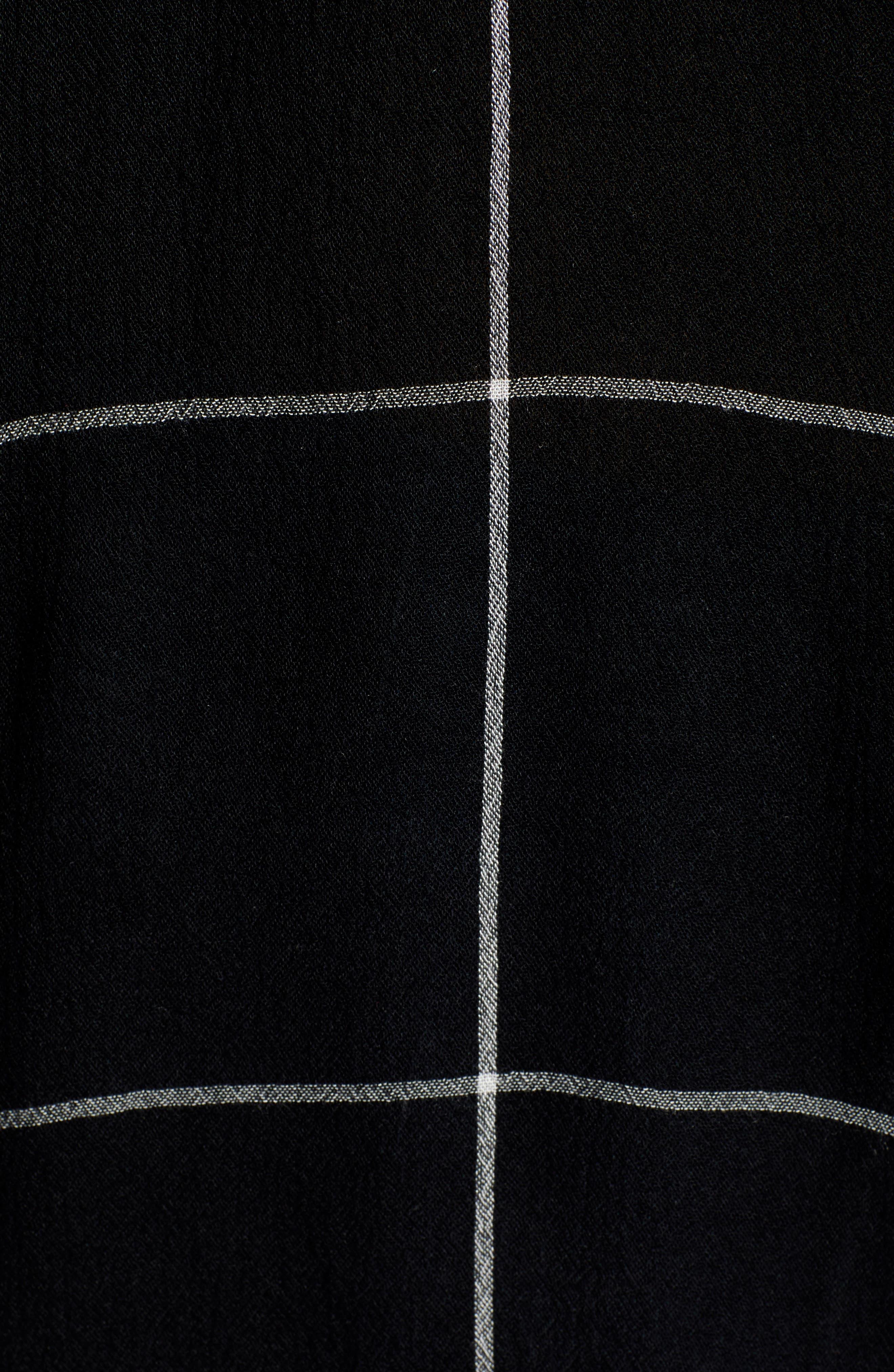 BP.,                             The Perfect Shirt,                             Alternate thumbnail 5, color,                             BLACK MAZY WINDOW PANE