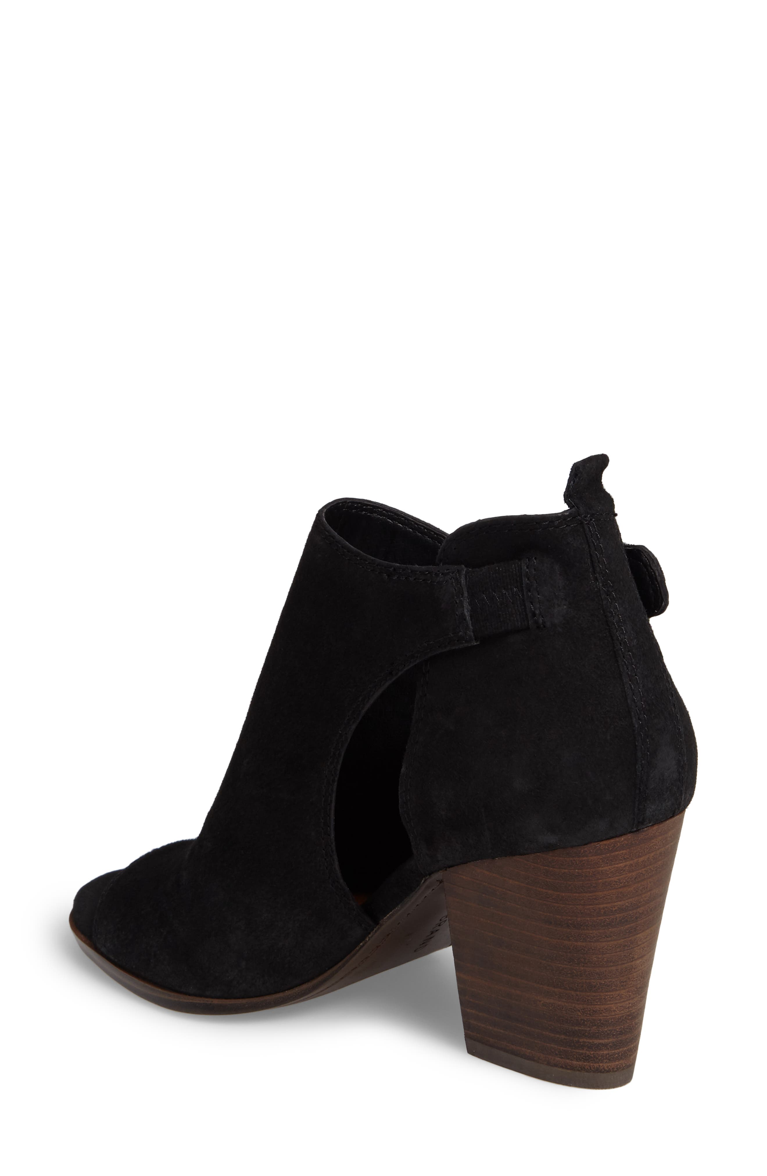 LUCKY BRAND,                             Oona Open Side Bootie,                             Alternate thumbnail 2, color,                             001