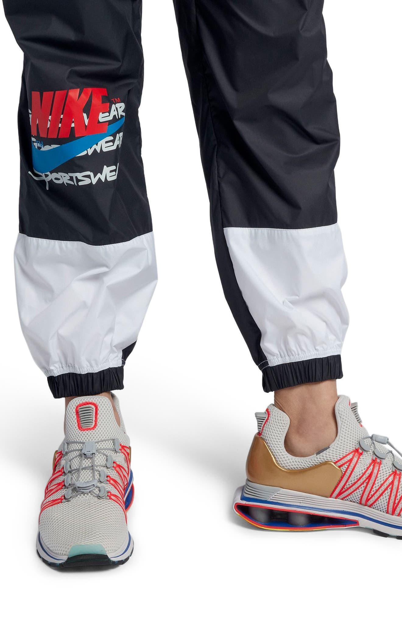 Sportswear Women's Woven Moto Pants,                             Alternate thumbnail 4, color,